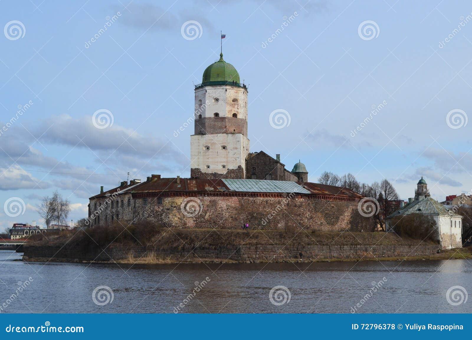 Château incroyable de Viborg au printemps