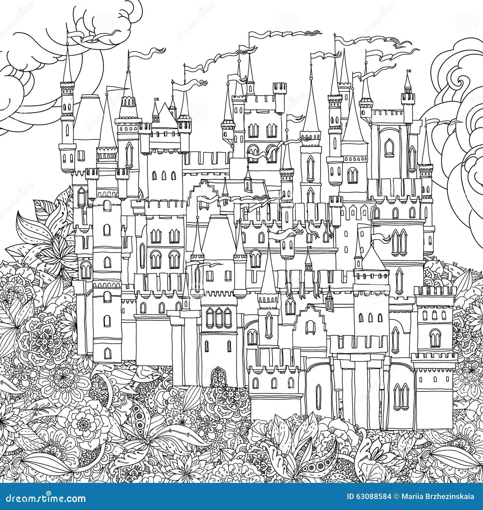 Download Château Ornemental D'un Conte De Fées Illustration de Vecteur - Illustration du floral, livre: 63088584
