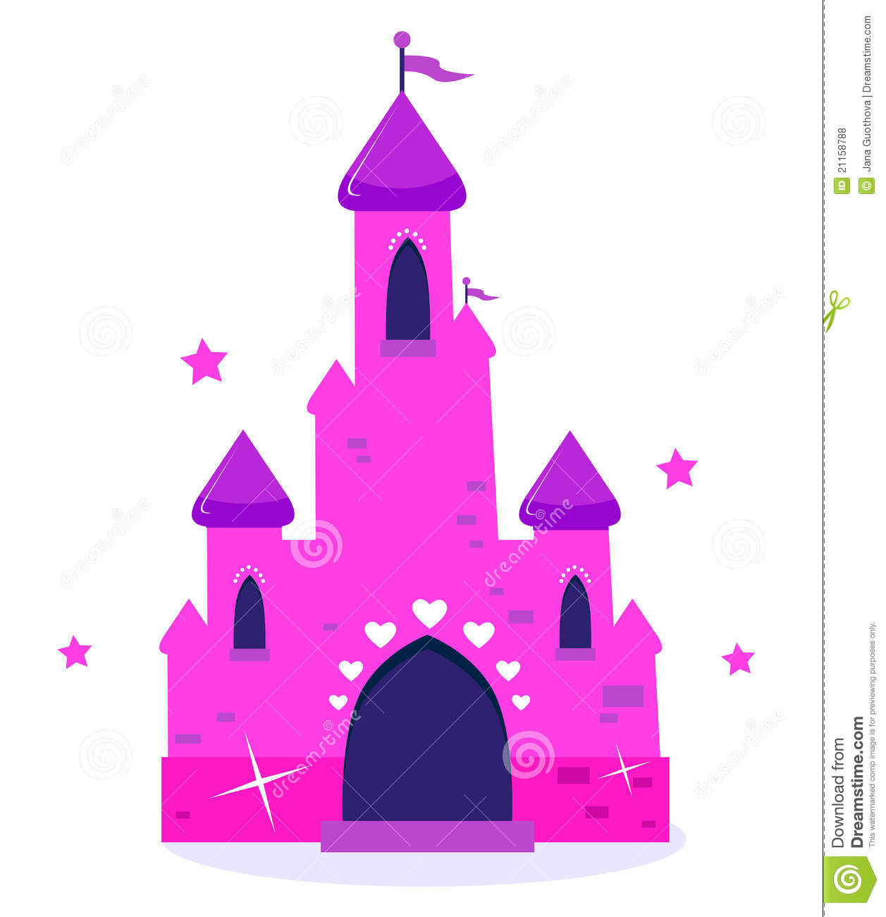 Chateau Rose De Dessin Anime De Princesse D Isolement Sur Le Blanc Illustration De Vecteur Illustration Du Isolement Rose 21158788