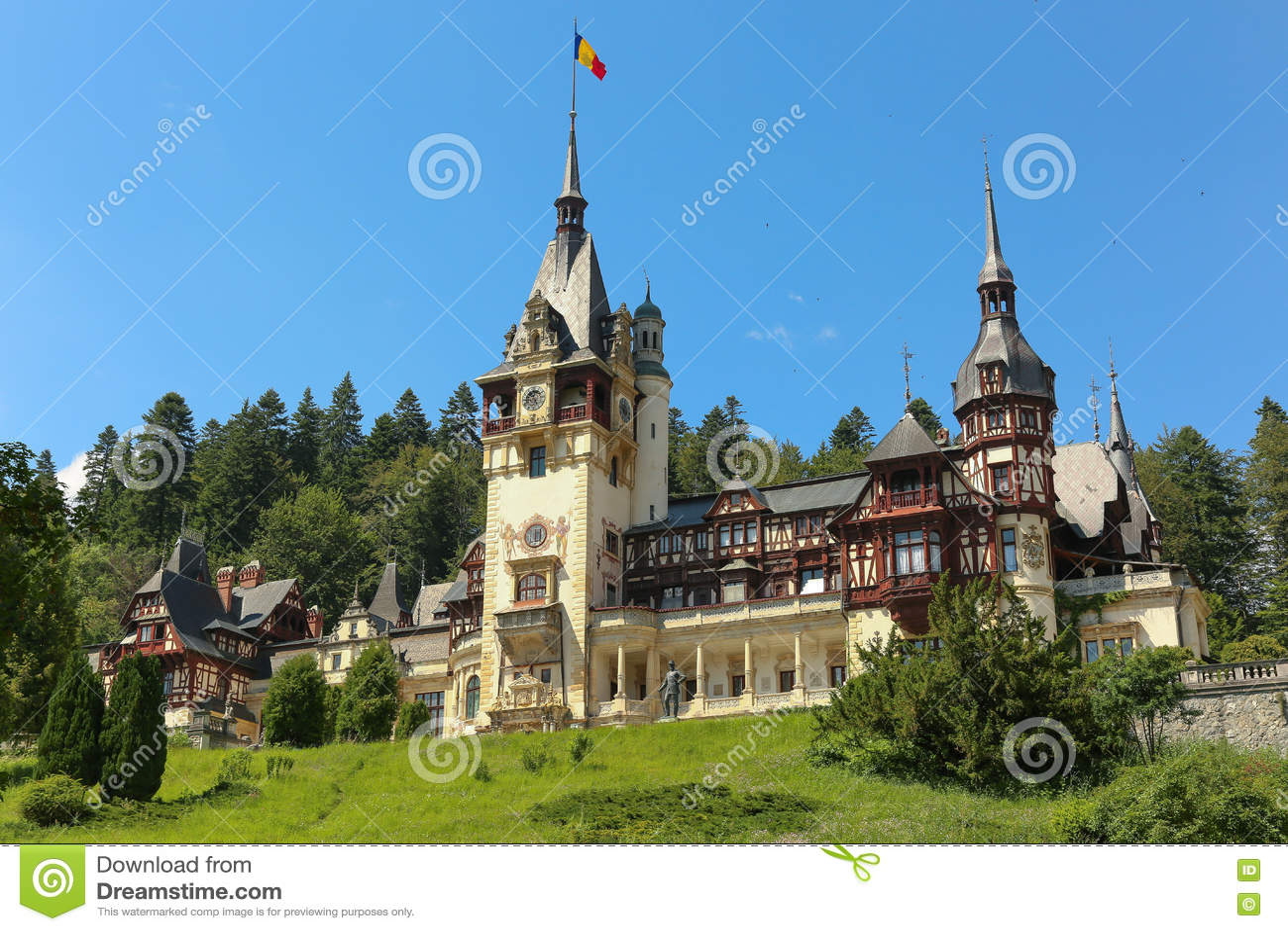 Château royal célèbre de Peles, Sinaia, Roumanie