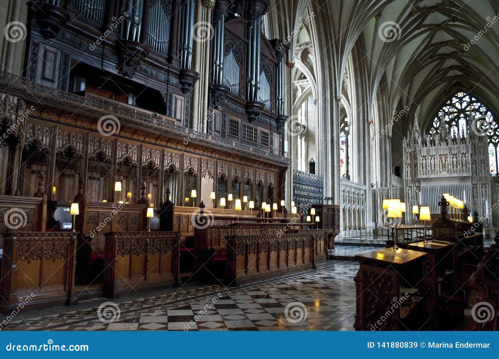 Chór, Bristol katedra, Anglia, Zjednoczone Królestwo