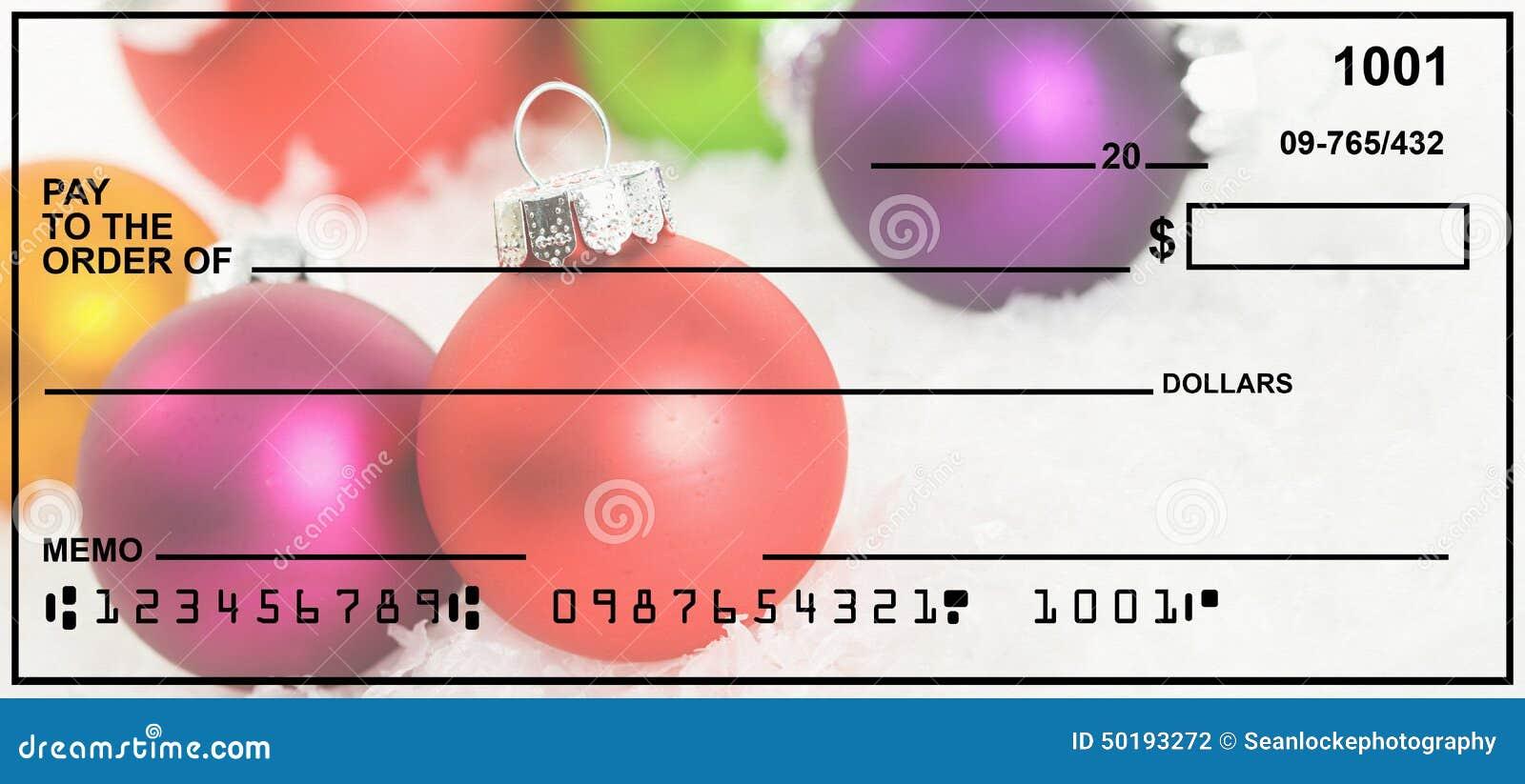 Christmas Personal Checks