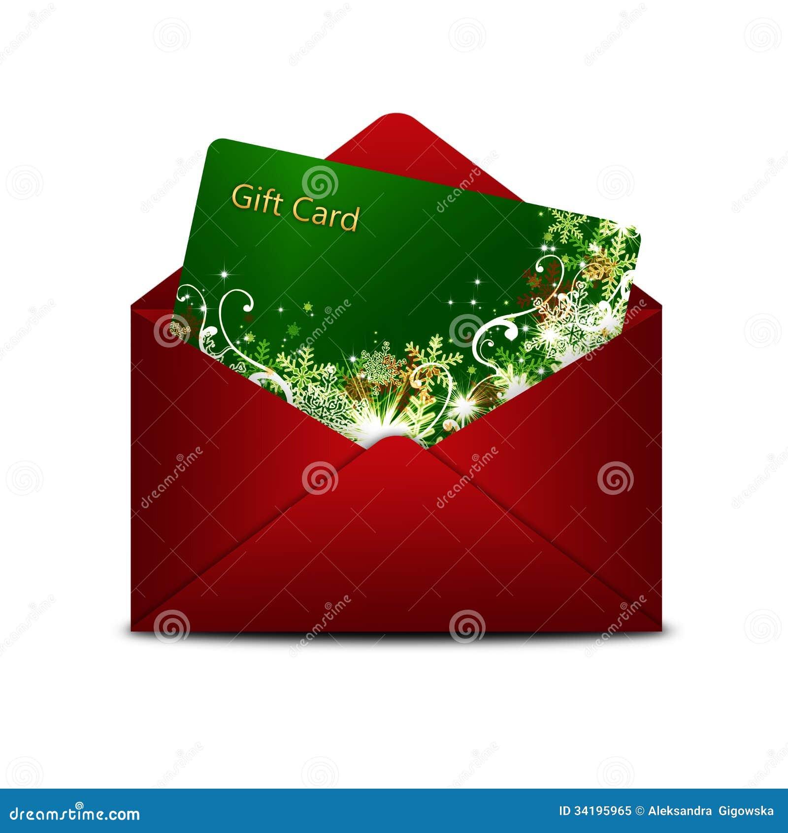ch que cadeau de no l dans l 39 enveloppe rouge au dessus du blanc photo libre de droits image. Black Bedroom Furniture Sets. Home Design Ideas