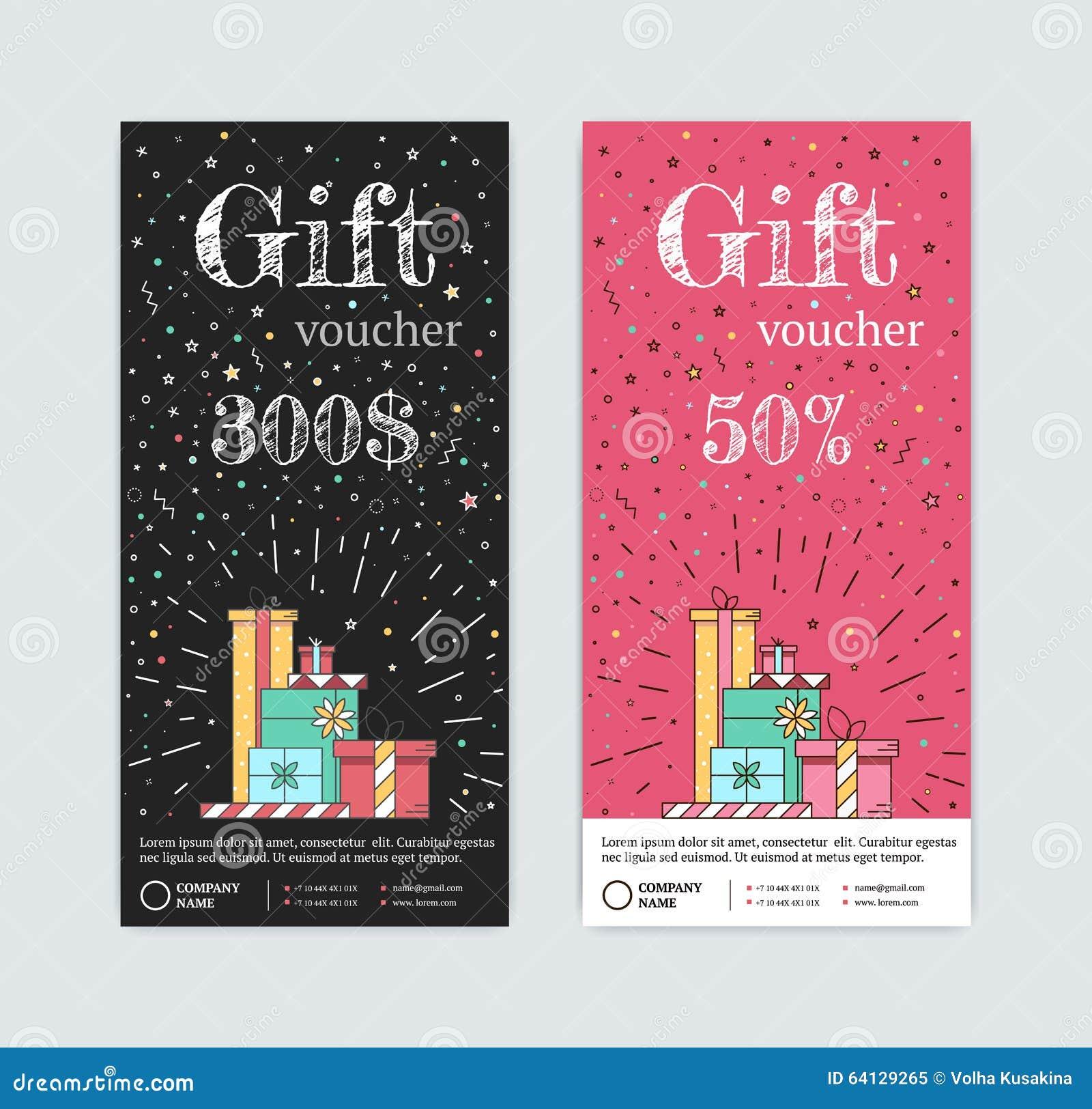 Chèque-cadeaux con los regalos