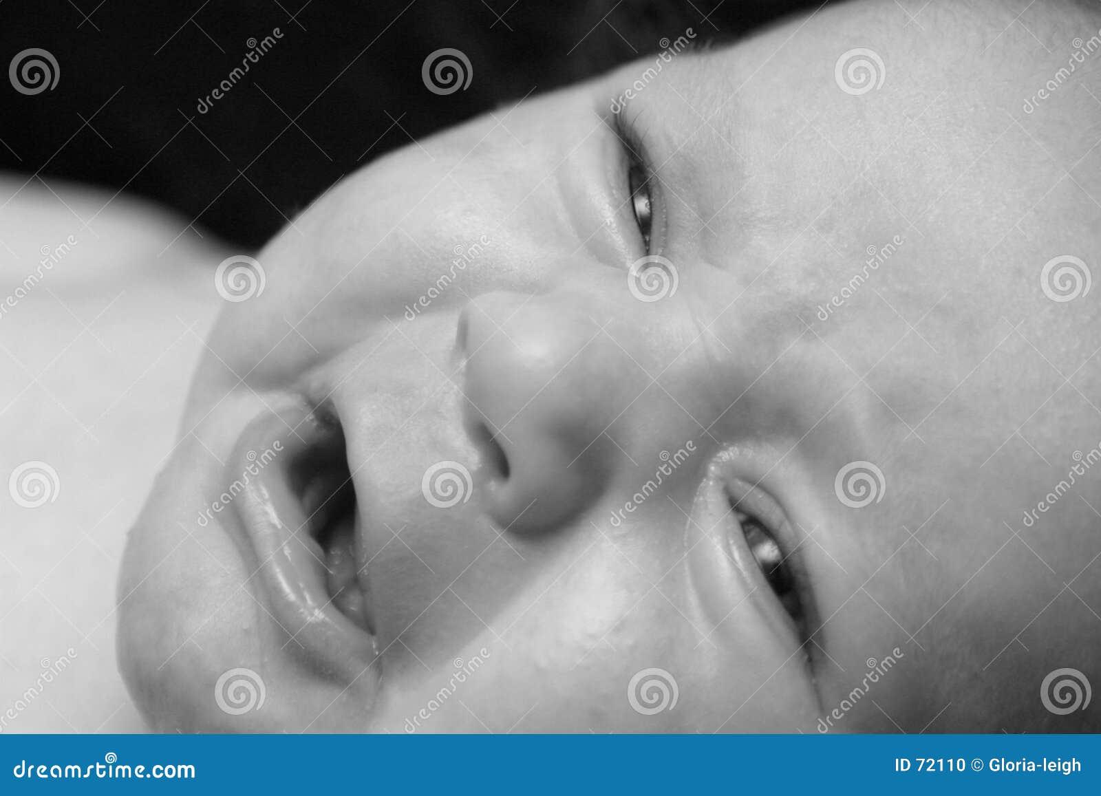 Chéri pleurant - noir et blanc