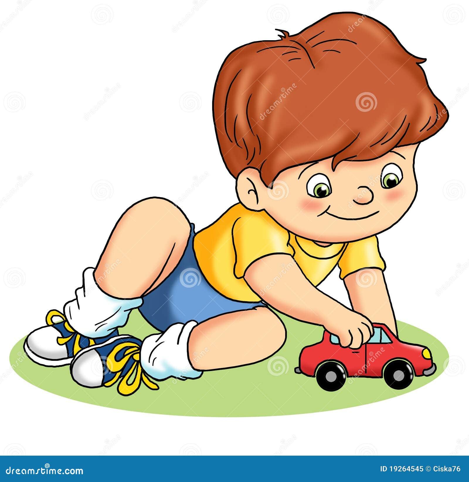 Chéri qui joue illustration stock. Image du enfants ...