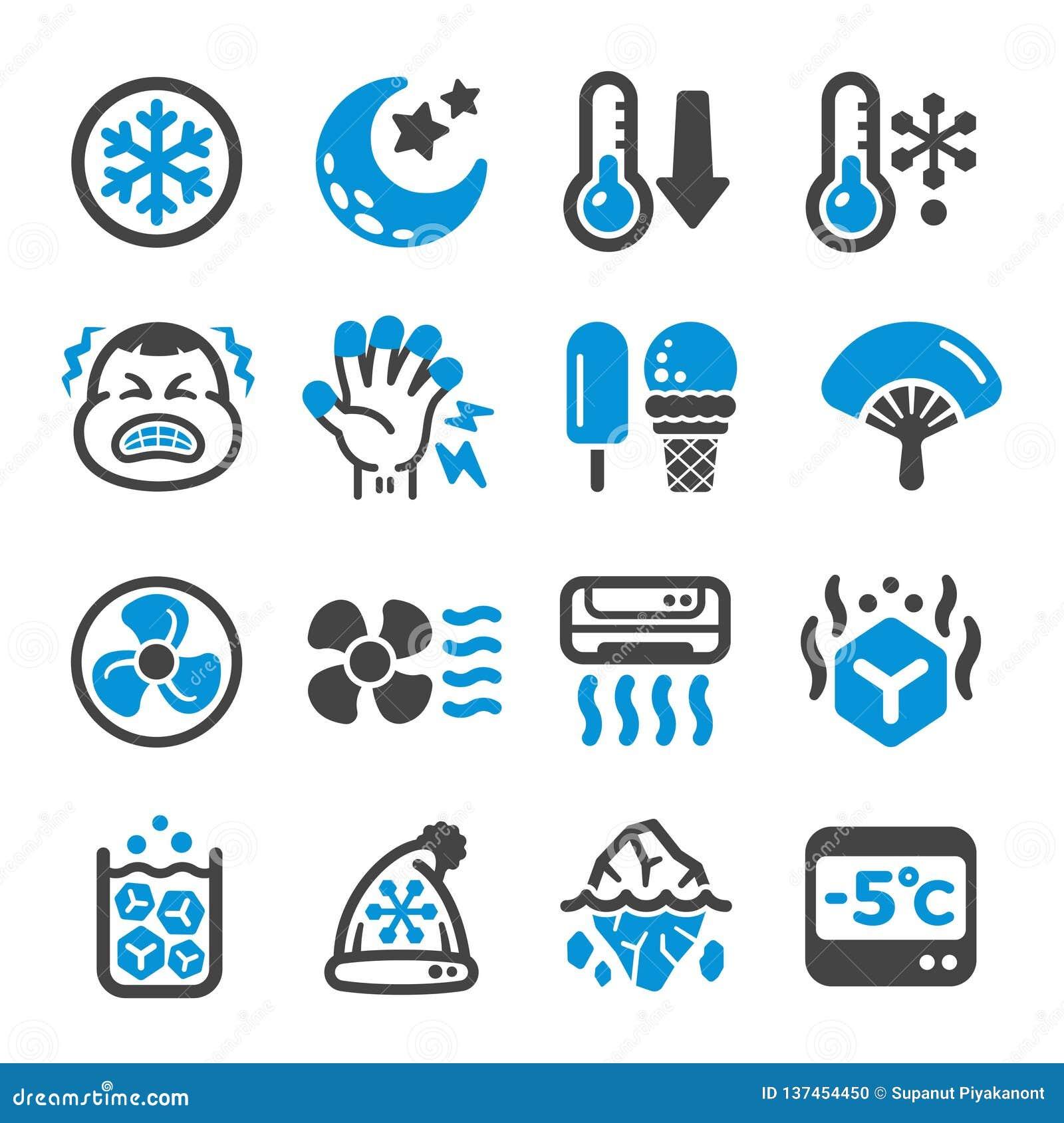 Chłodno ikona set