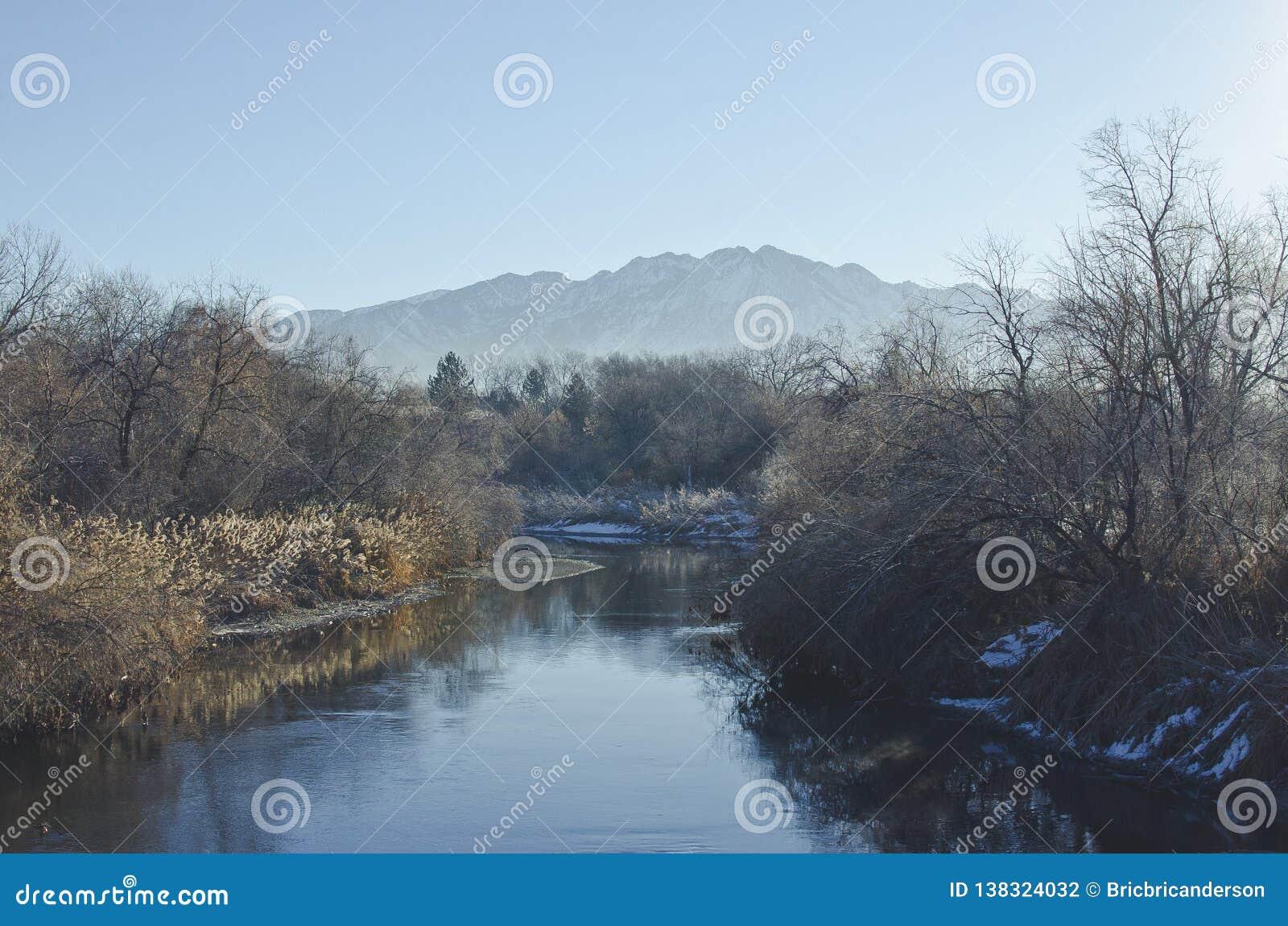 Chłodno zimny Utah zatoczki dolinny krajobraz