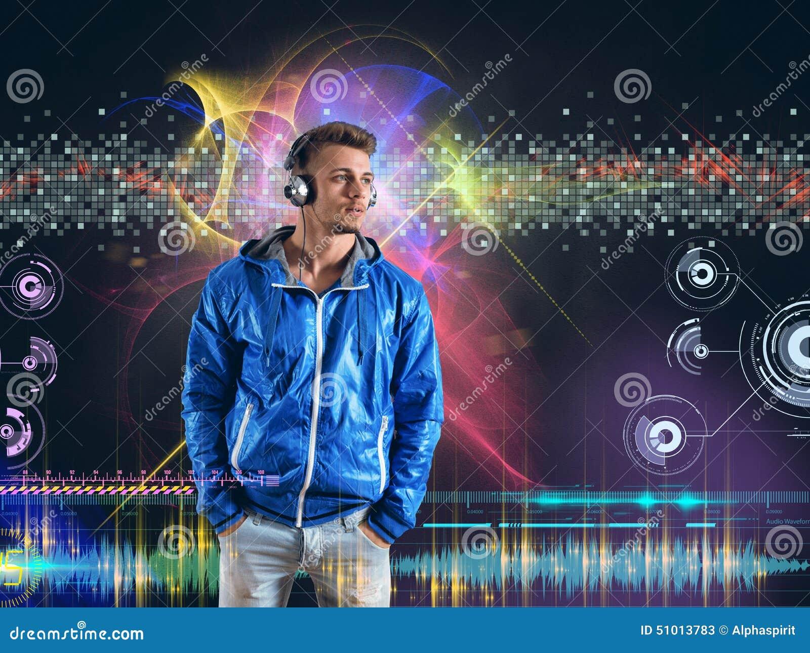 Chłopak słyszy muzykę