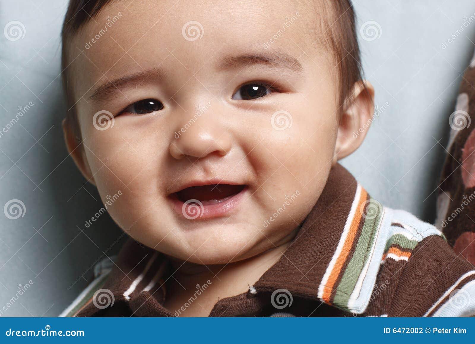 Chłopak się uśmiecha