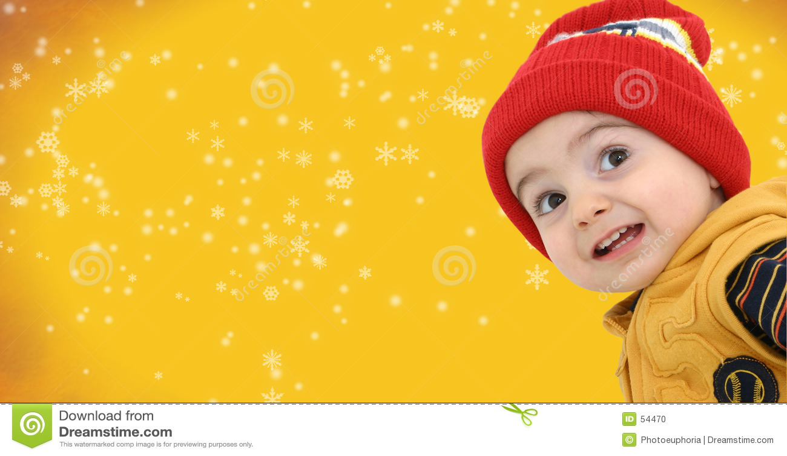 Chłopcy tła zimy snowfiake jasno żółty