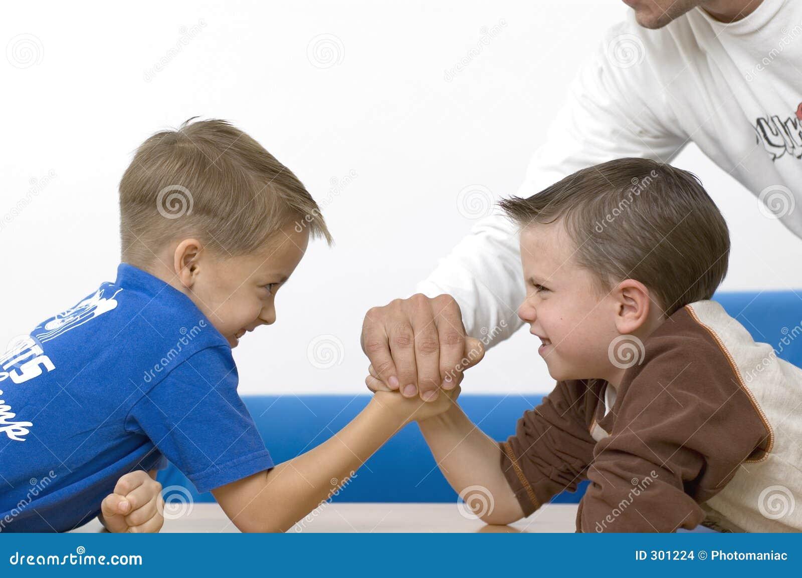 Chłopcy wrestling