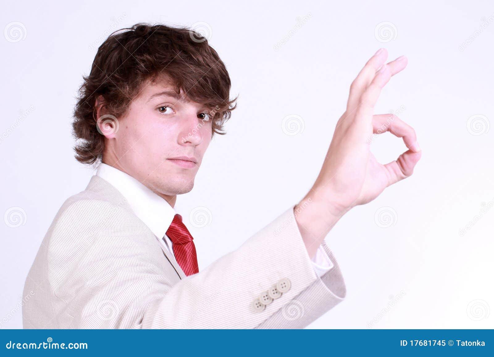 Chłopiec gesta seans