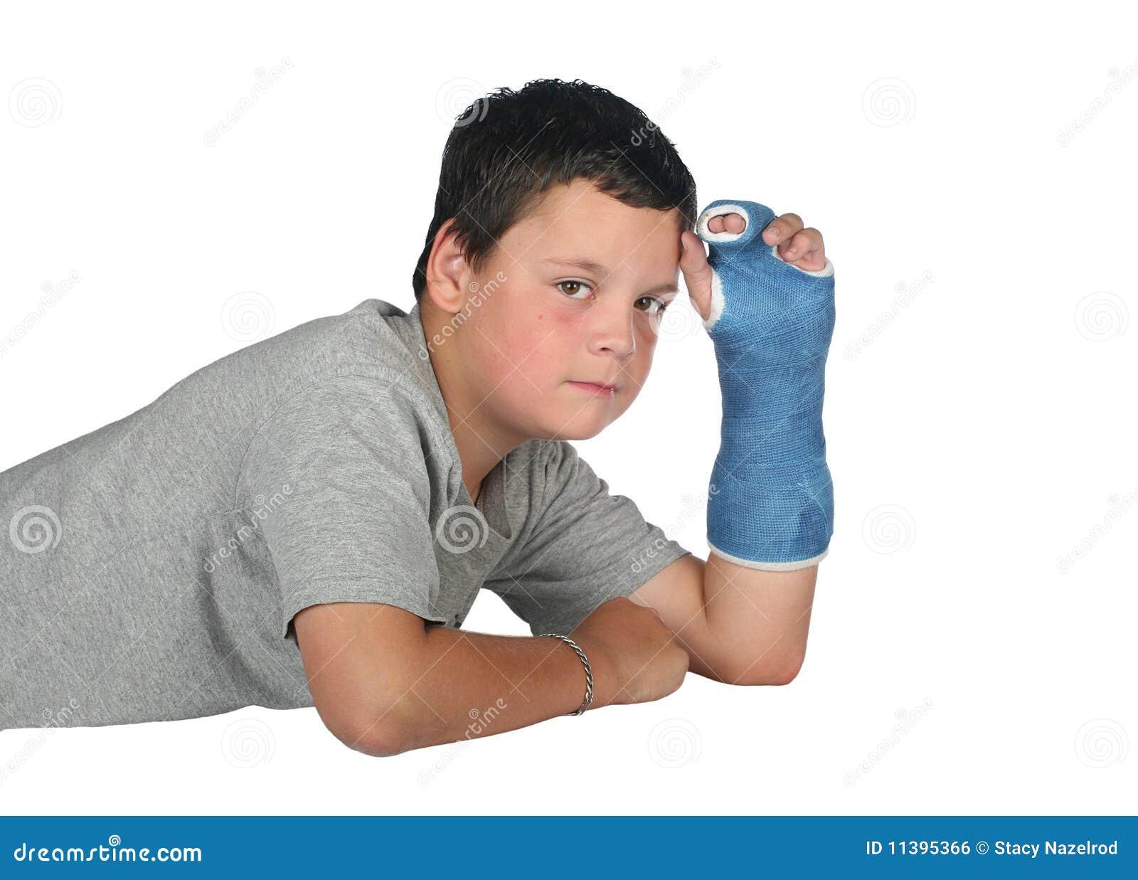 Chłopiec obsady bólu potomstwa