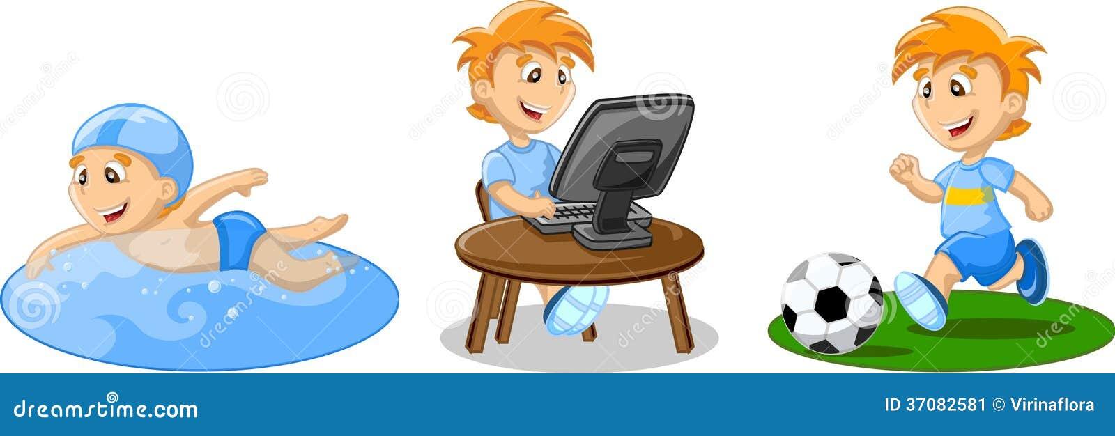 Download Chłopiec pływa ilustracja wektor. Ilustracja złożonej z informacja - 37082581