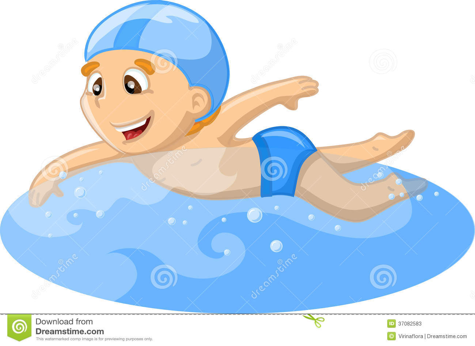 Download Chłopiec pływa ilustracja wektor. Ilustracja złożonej z ćwiczenie - 37082583