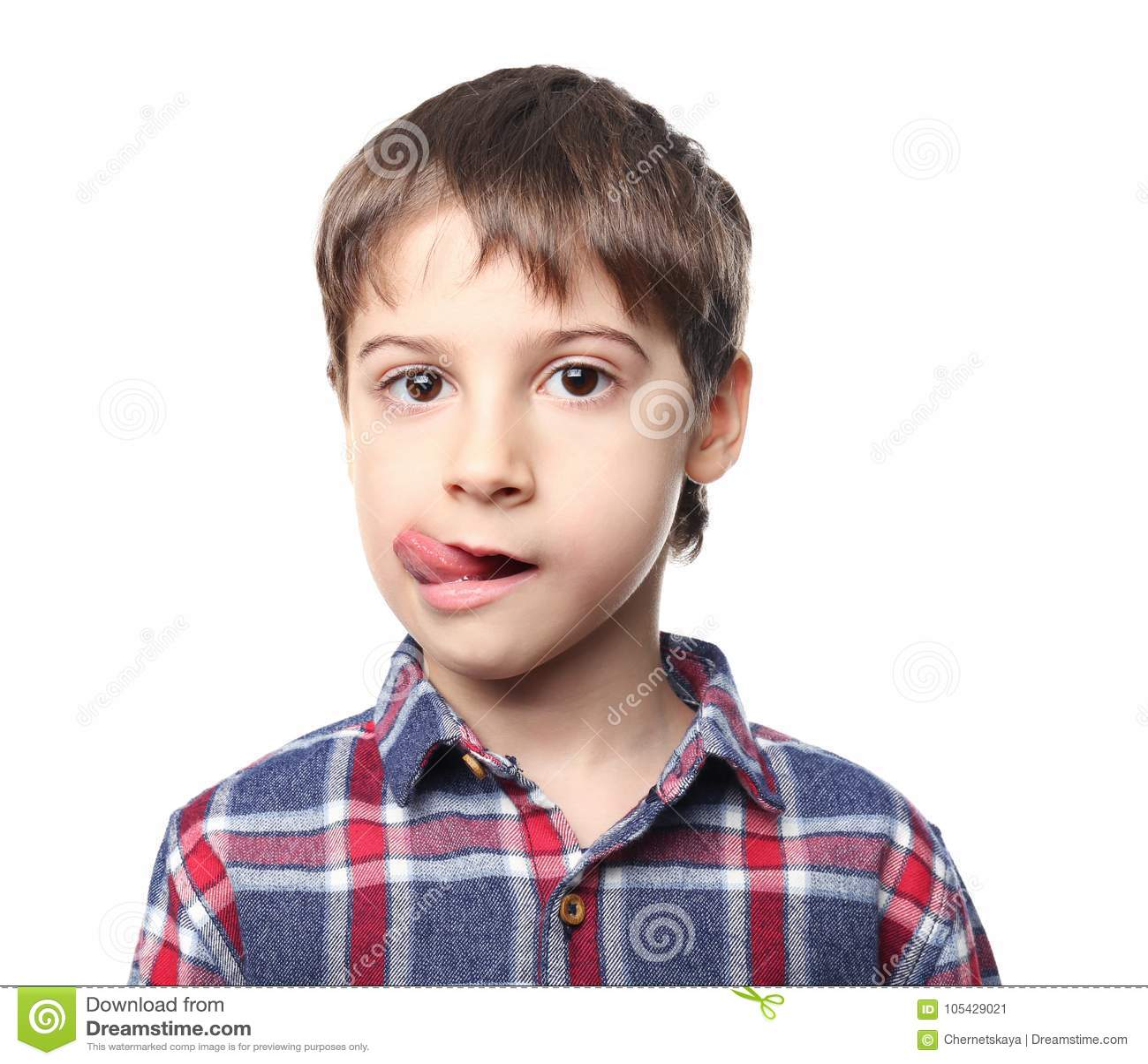Chłopiec portret śliczny mały