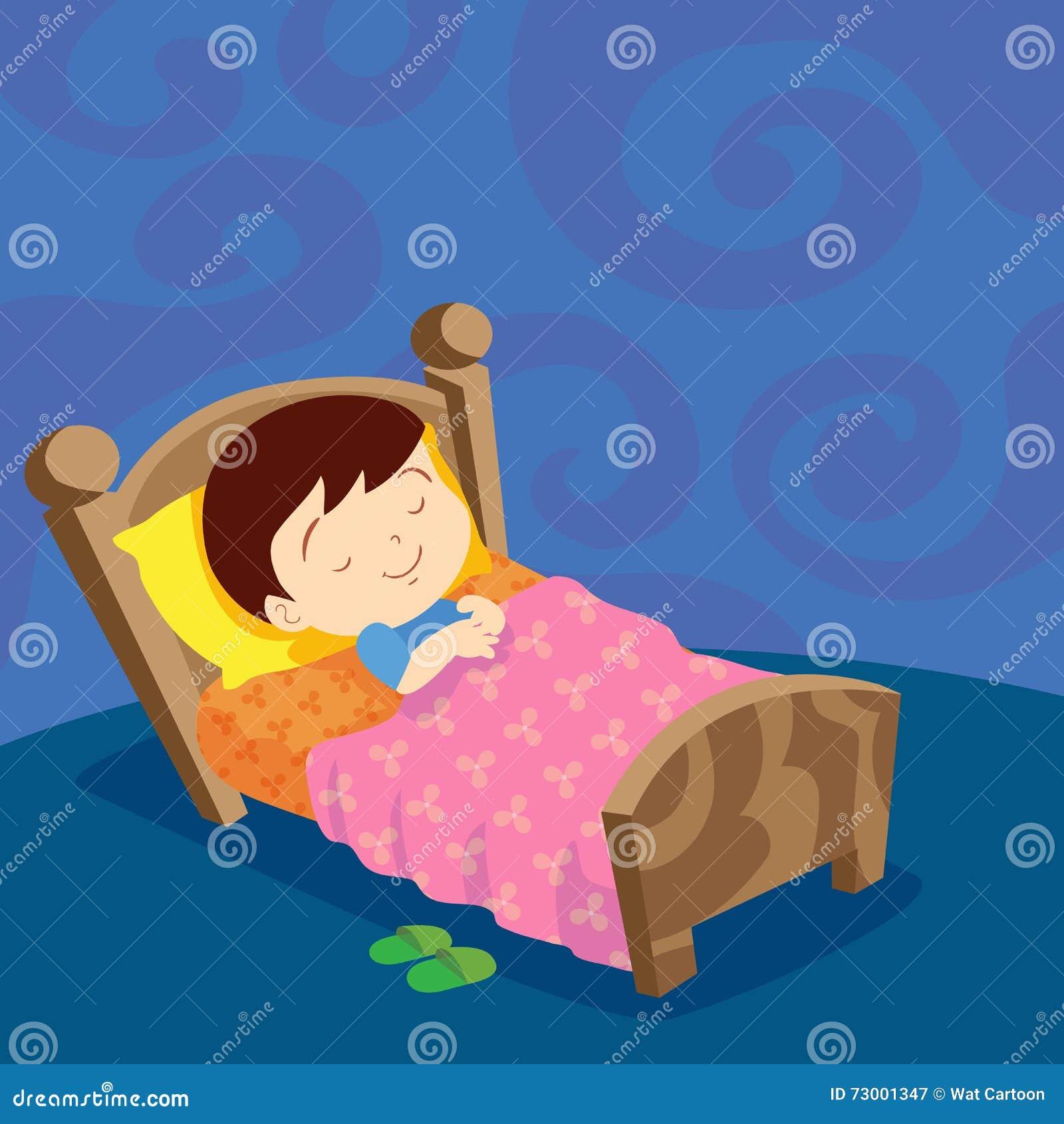 Chłopiec sen słodki sen