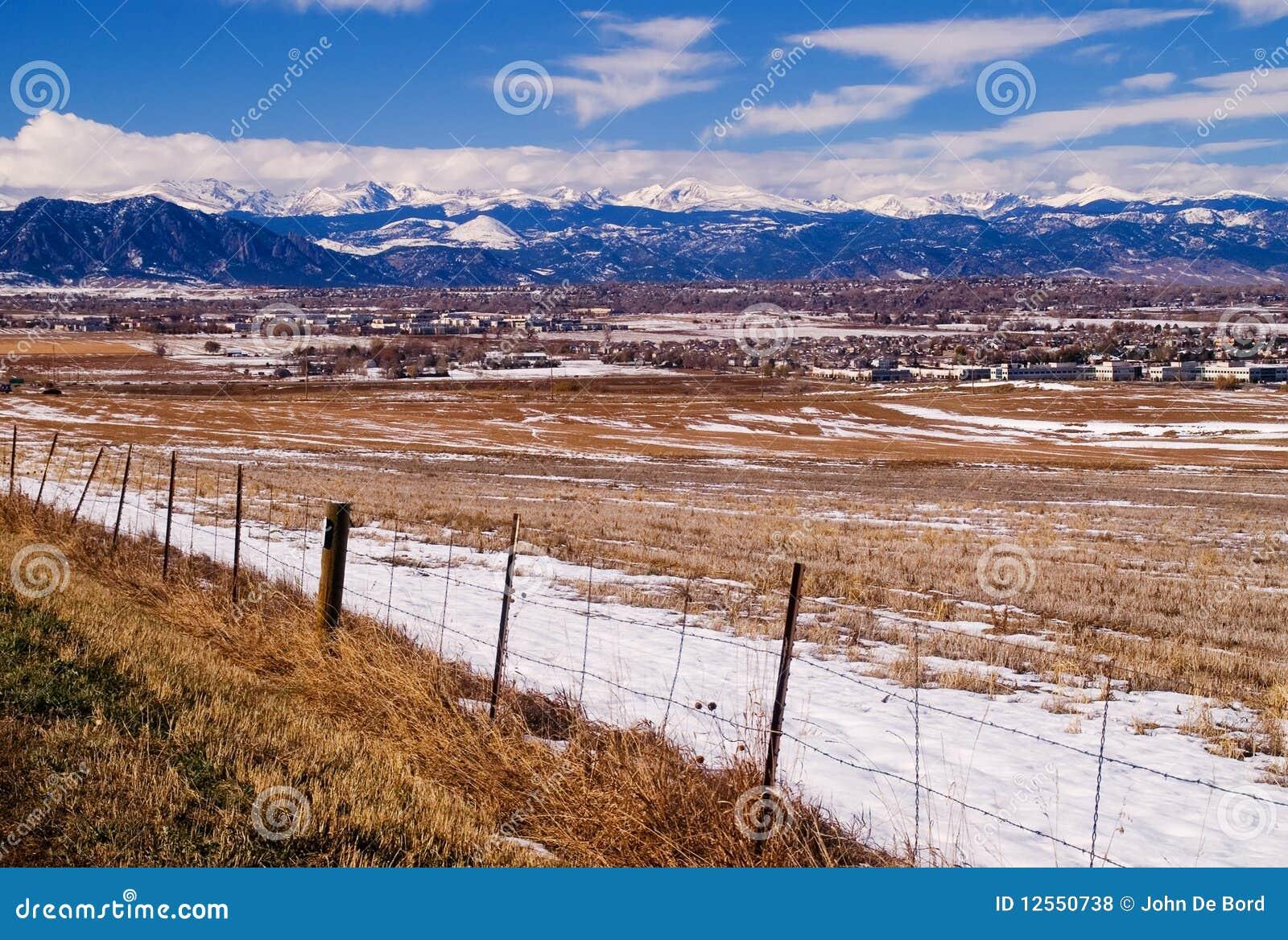 Chaîne avant du Colorado les Rocheuses en hiver