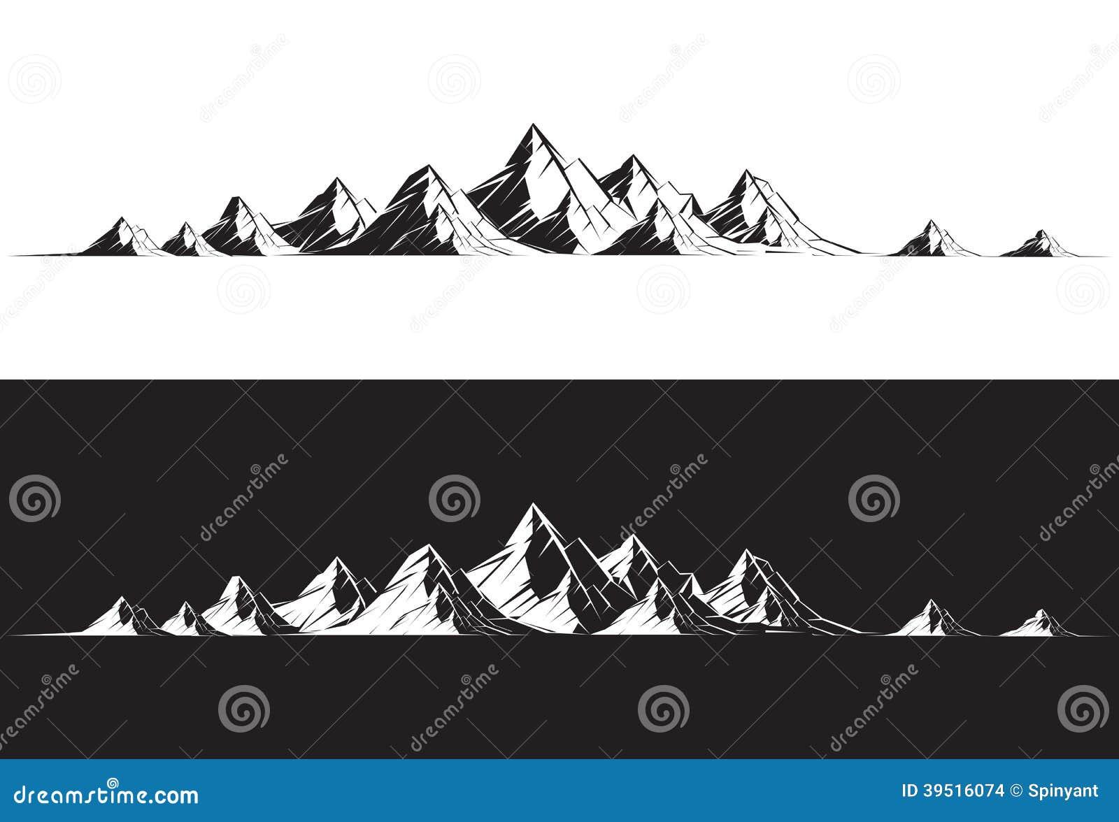 cha ne de montagne illustration de vecteur illustration du silhouette 39516074. Black Bedroom Furniture Sets. Home Design Ideas