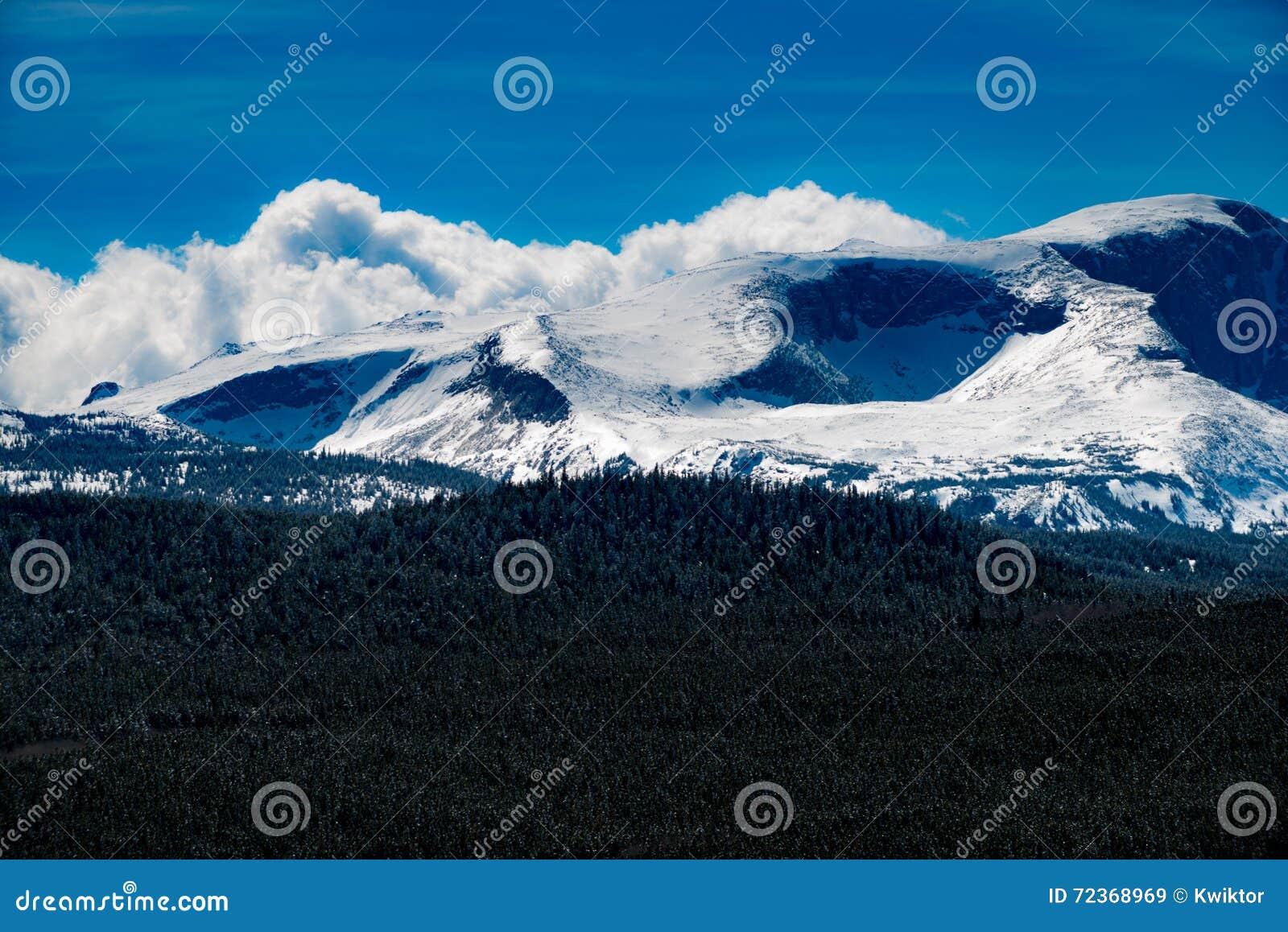 Chaîne de montagne de Bighorn Wyoming