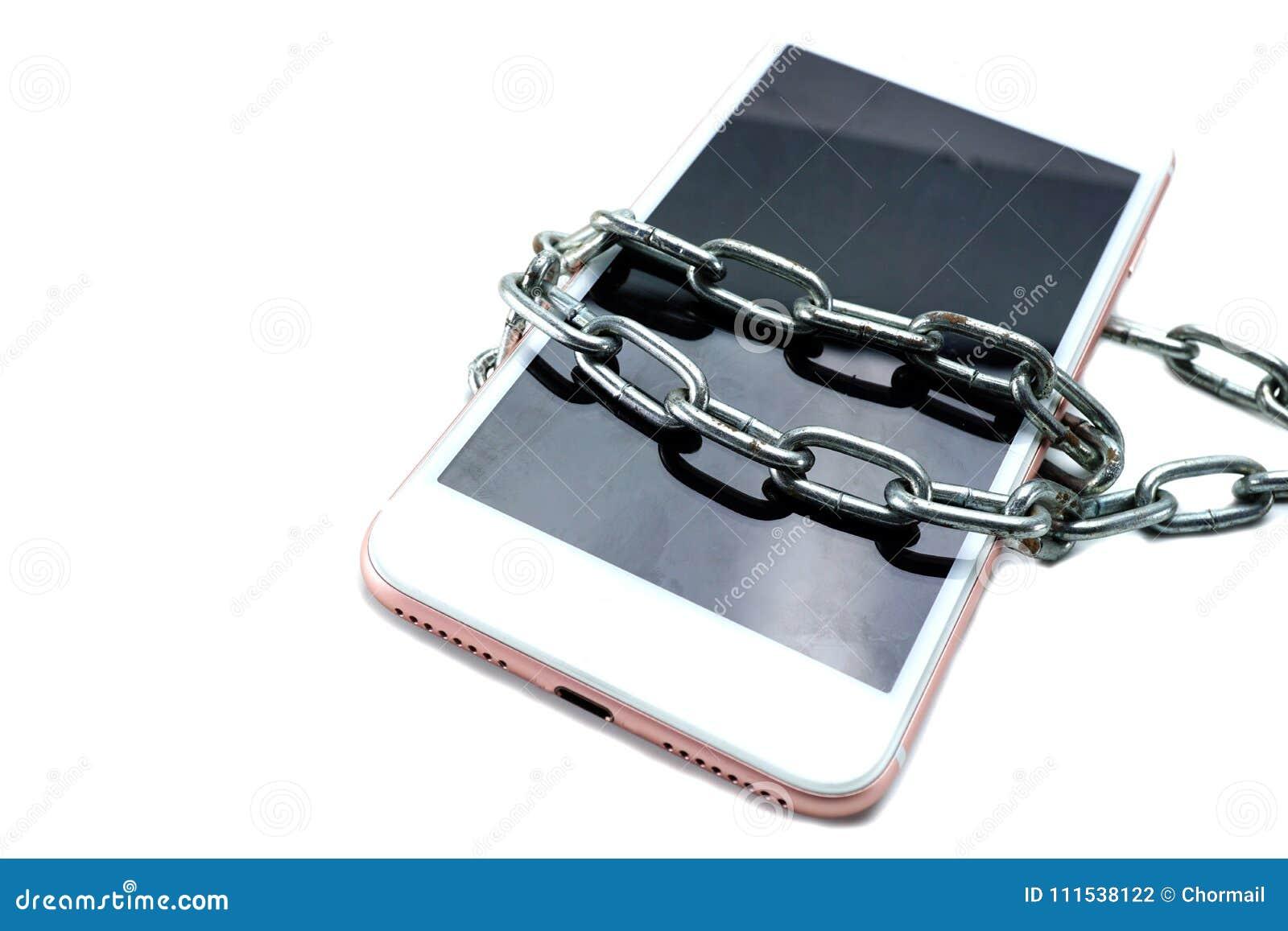 Chaîne de serrure de vol d entaille de téléphone Sécurité de réseau