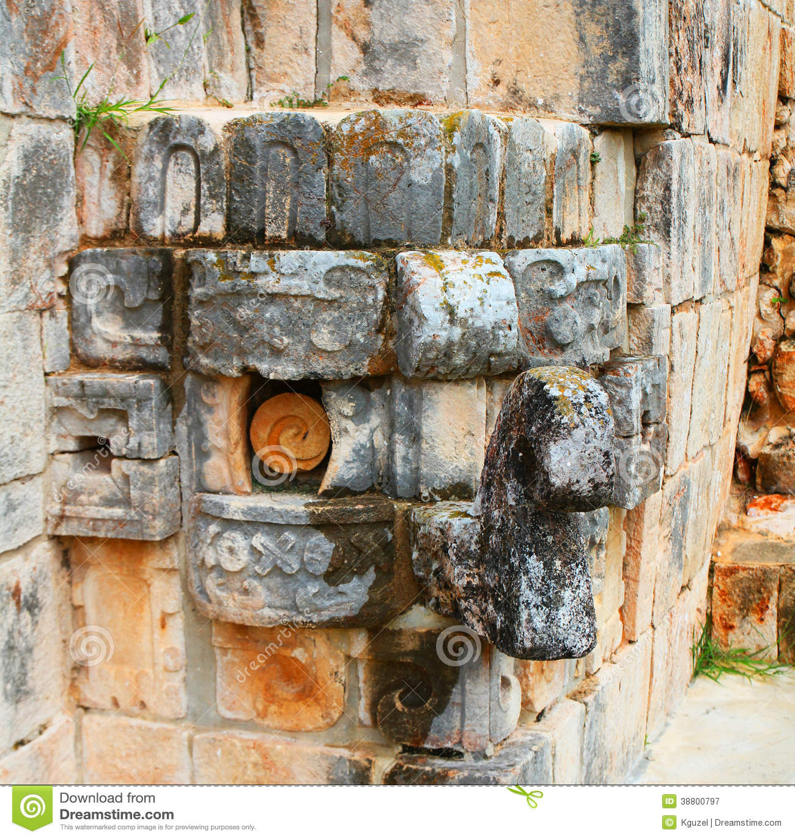 Chac maskering. Mayan gud av regn.