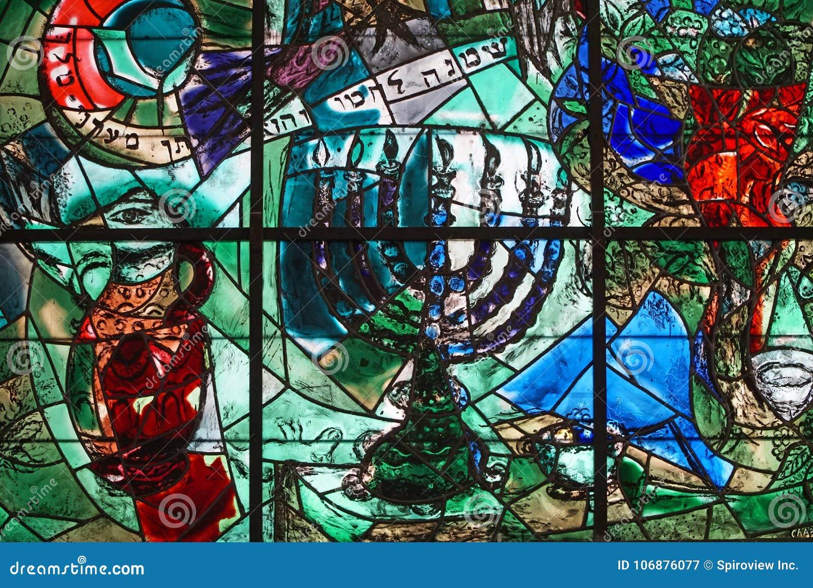 Chagall målat glassfönster