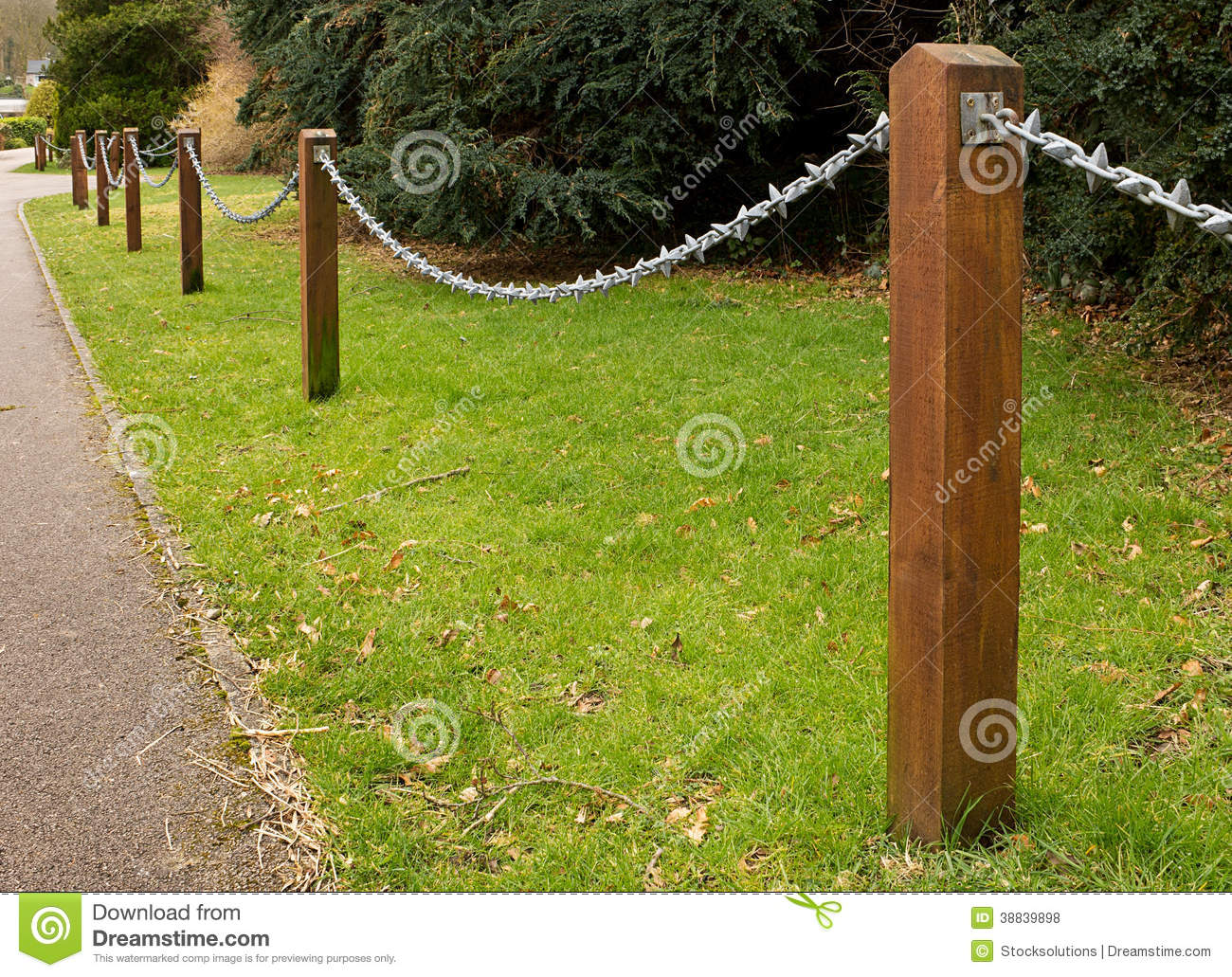 Chain Fencing Stock Photo Image 38839898