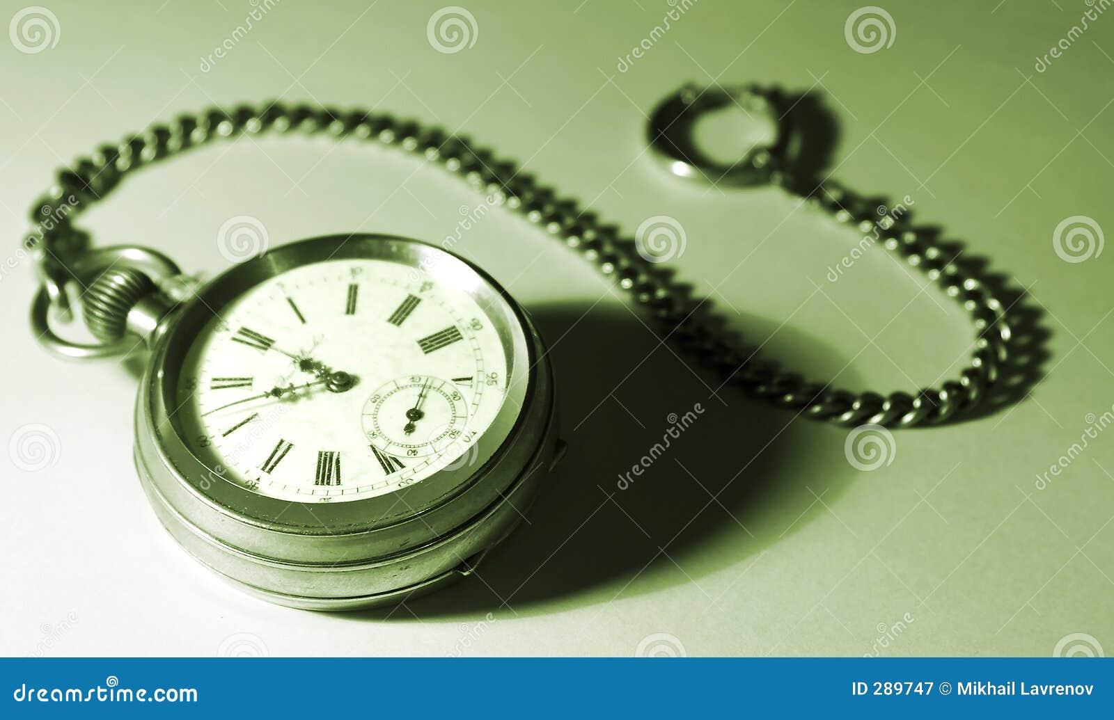 Chain grön isolerad fack tonad watch
