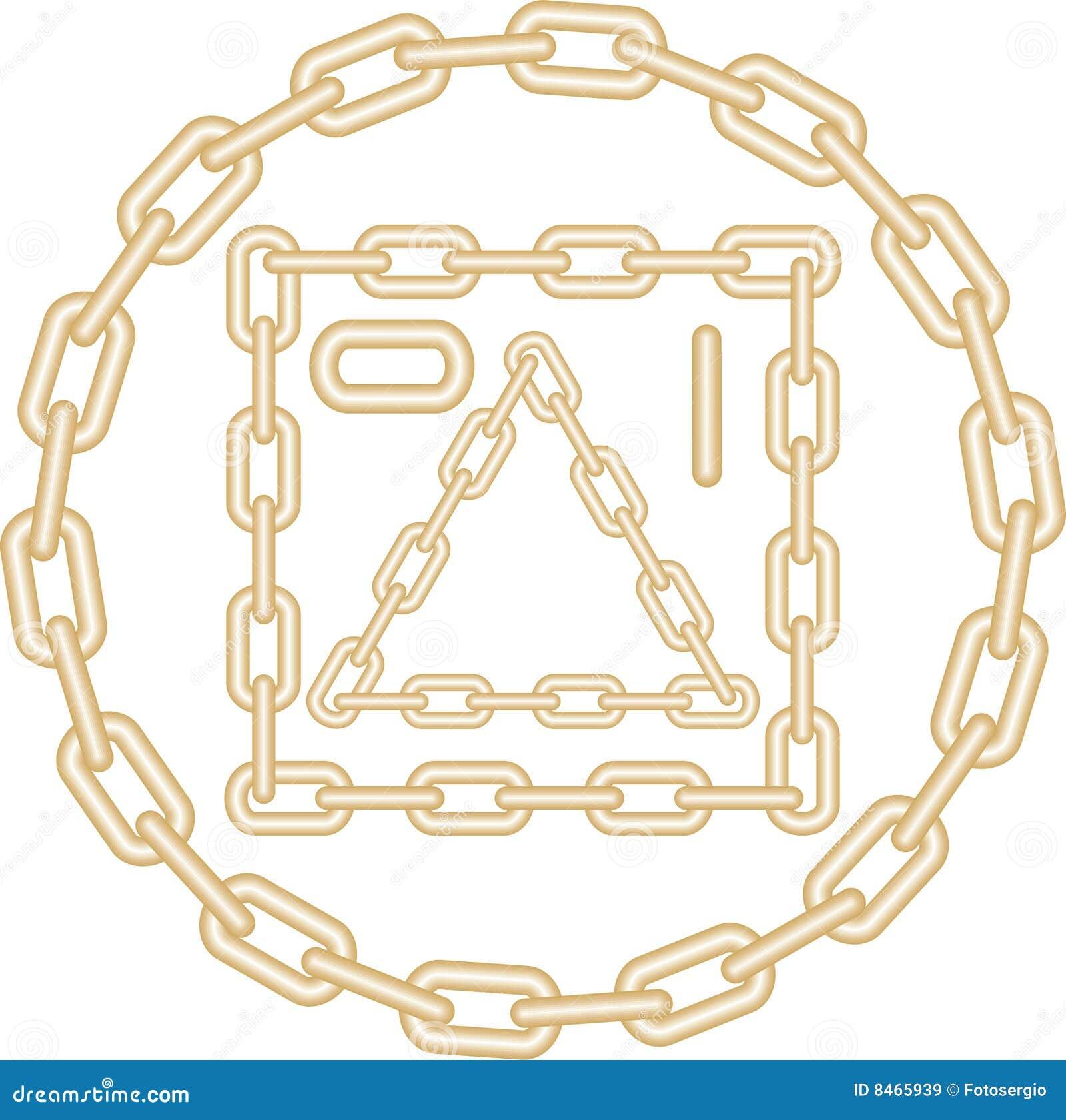 Chain guld- bildvektor