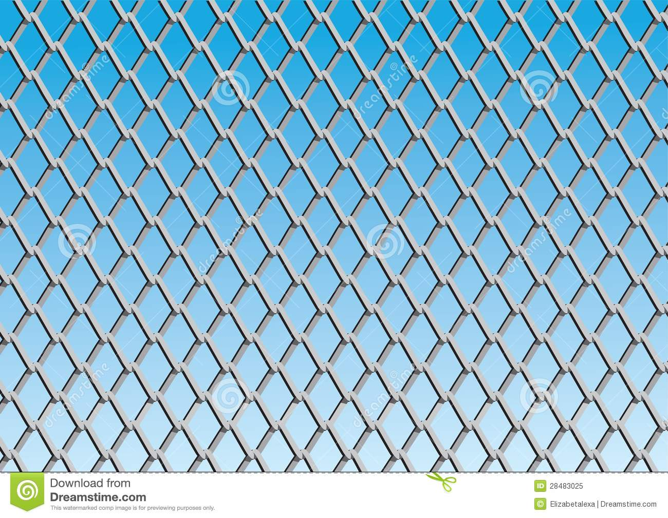 Chain Link Fence Wallpaper: Chain Link Fence With Blue Sky Background Royalty Free