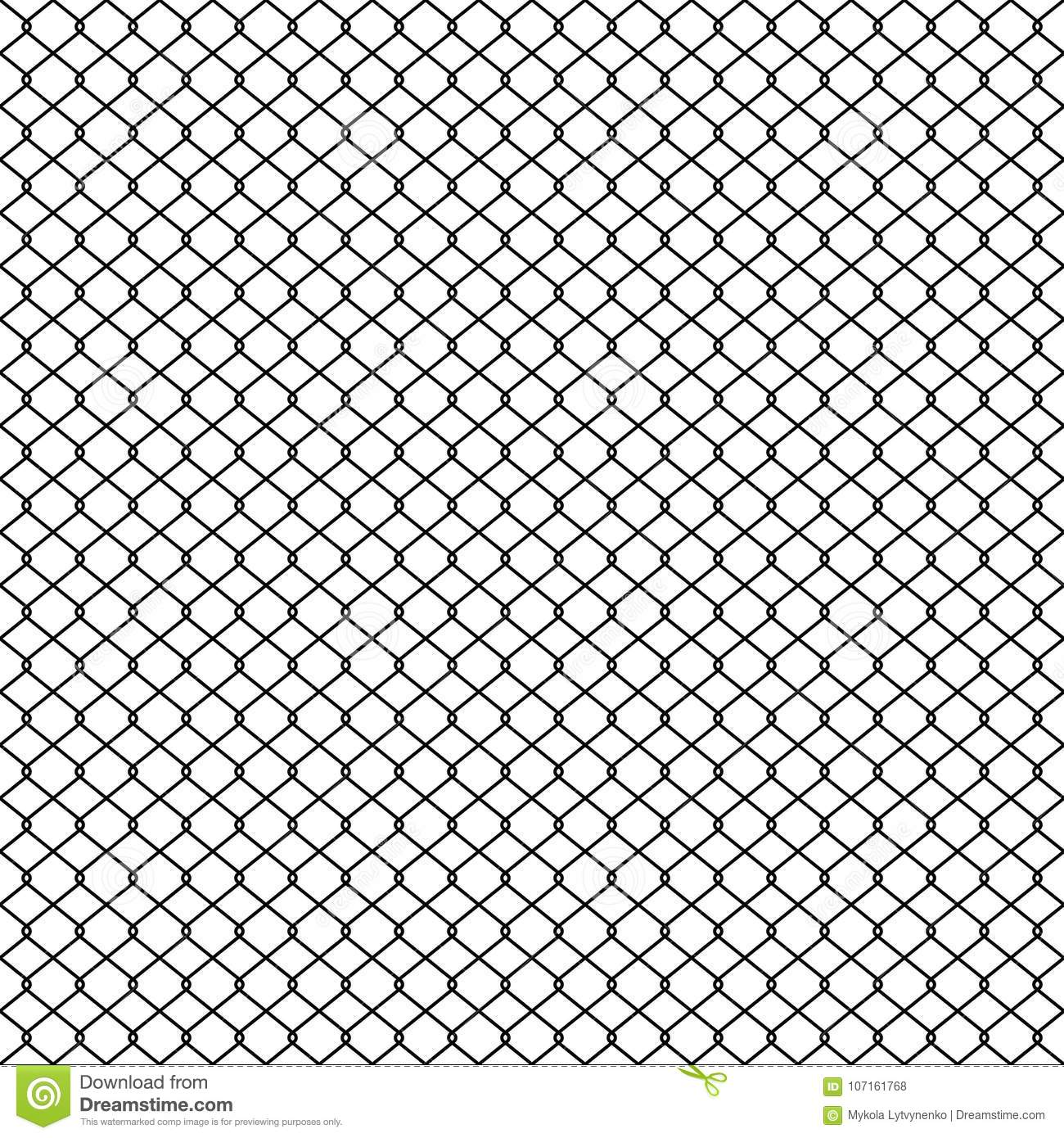 Chain Link Fence, Braid Wire Fence Texture, Seamless Pattern Vector ...