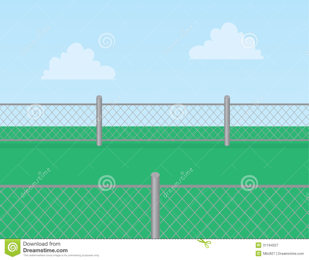 Chain Link Fence Grass Royalty Free Stock Photography - Image: 31194027