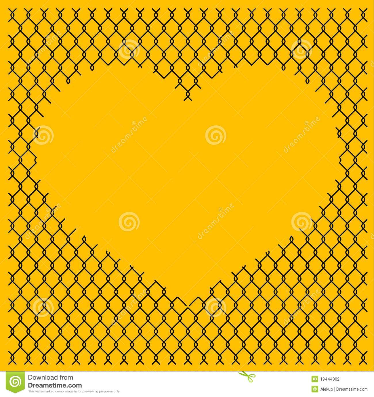 Chain Link Fence With Heart Stock Photography Image