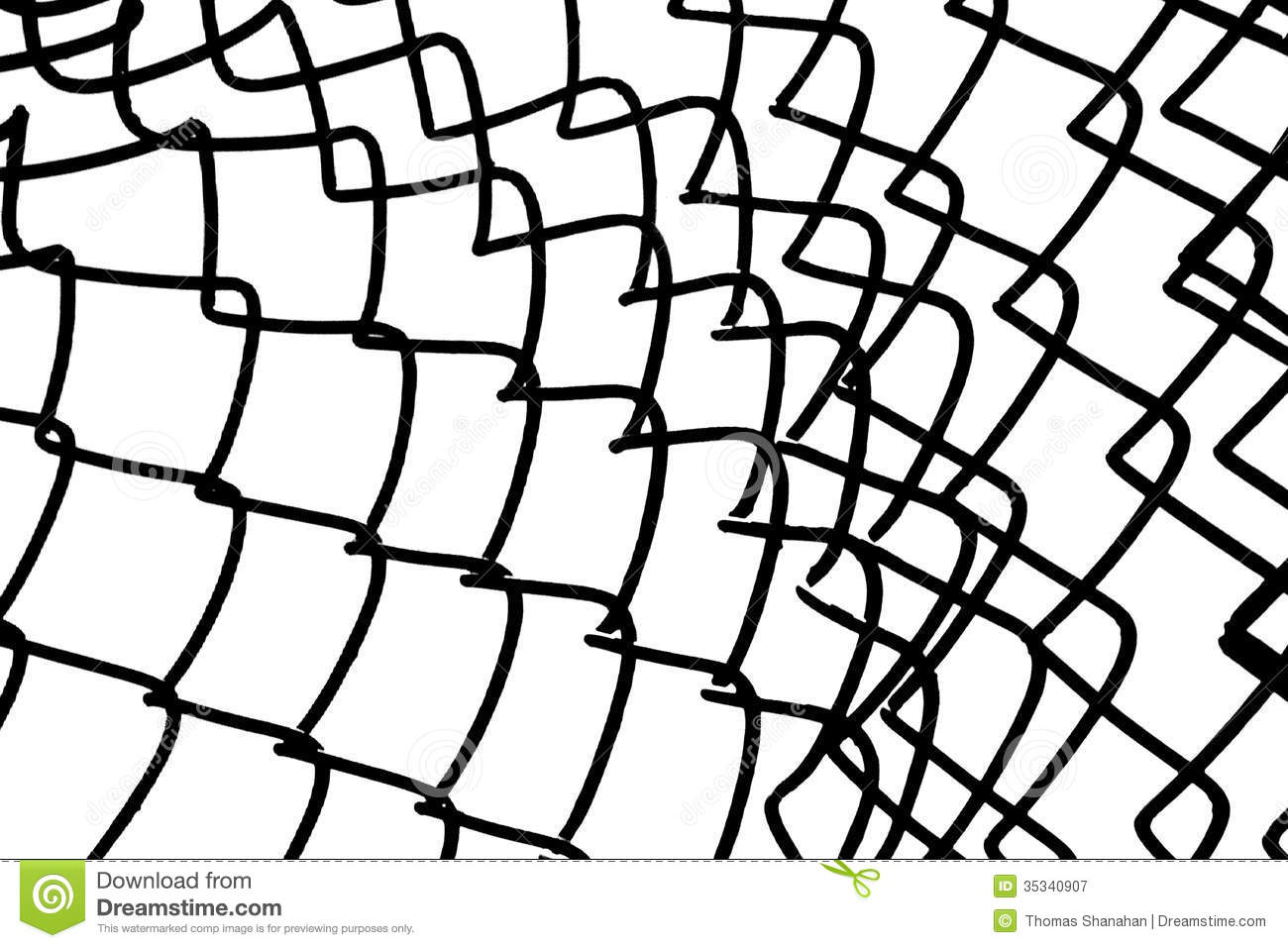 Chain link fence high contrast stock image