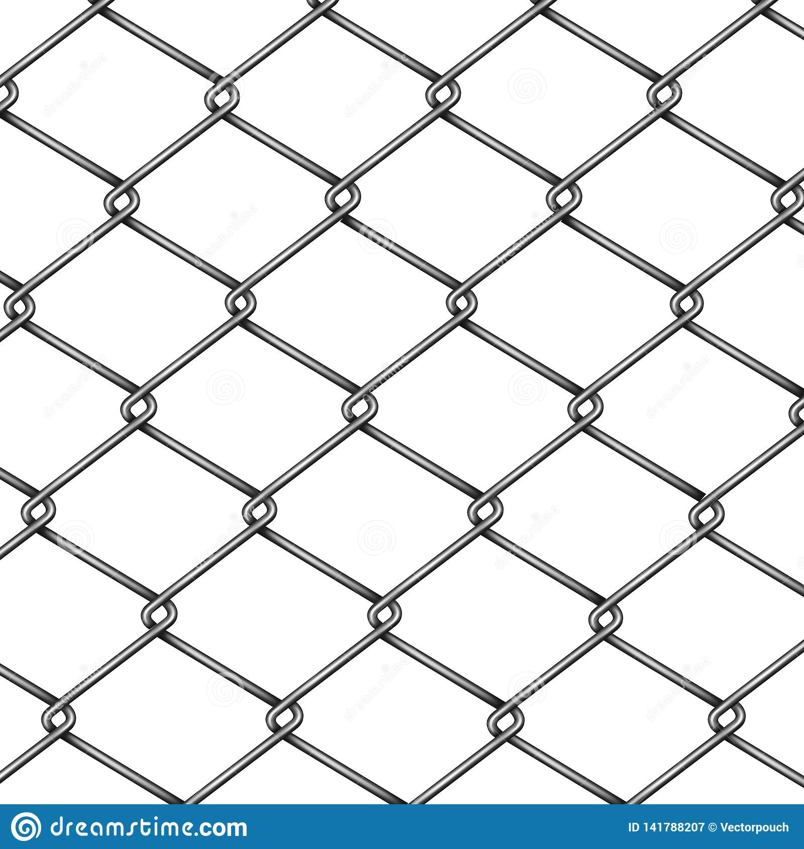Chain-link fence pattern 3d realistic vector