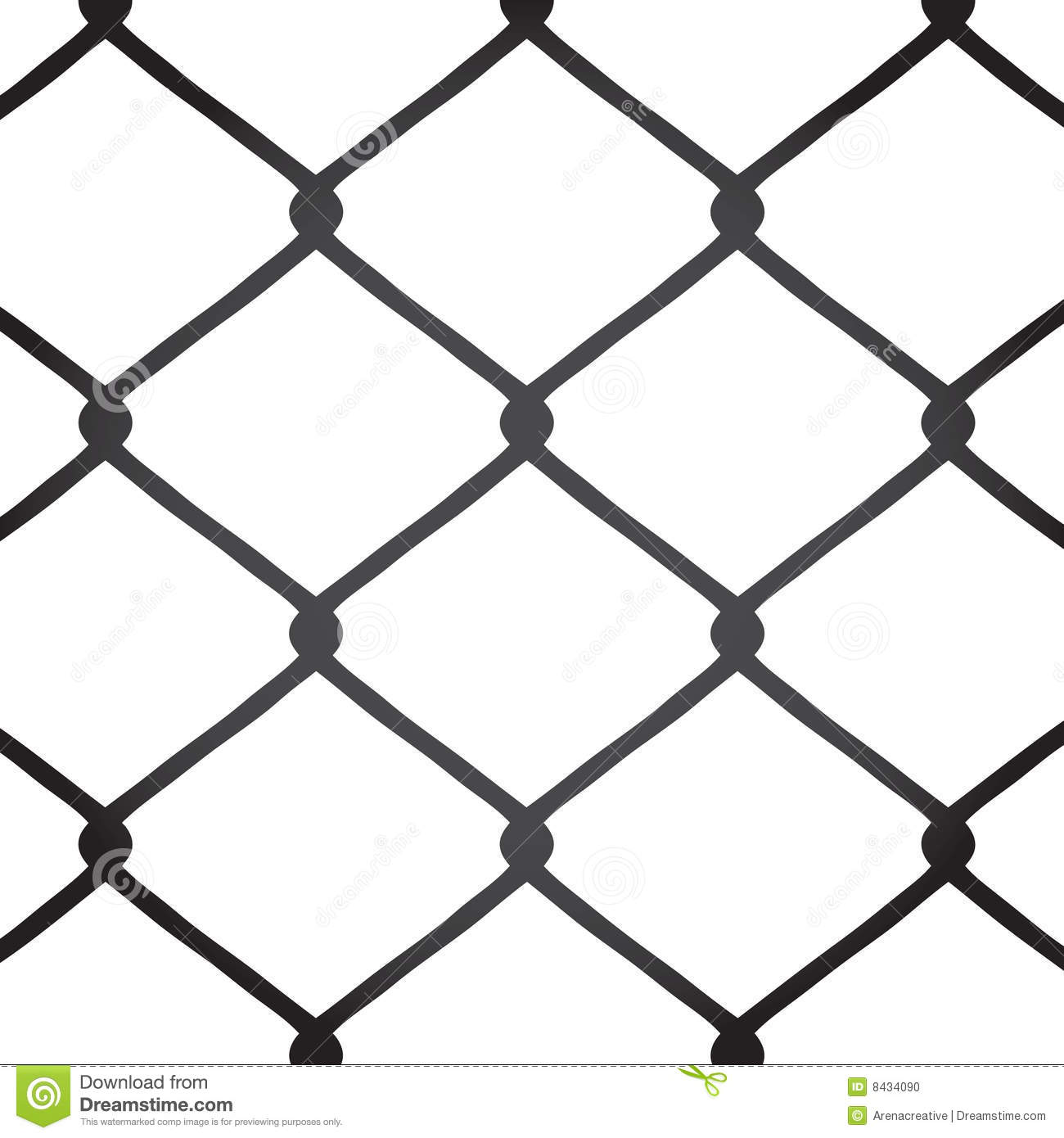 Chain Link Fence Drawing chain link fence royalty free stock photography - image: 7475387