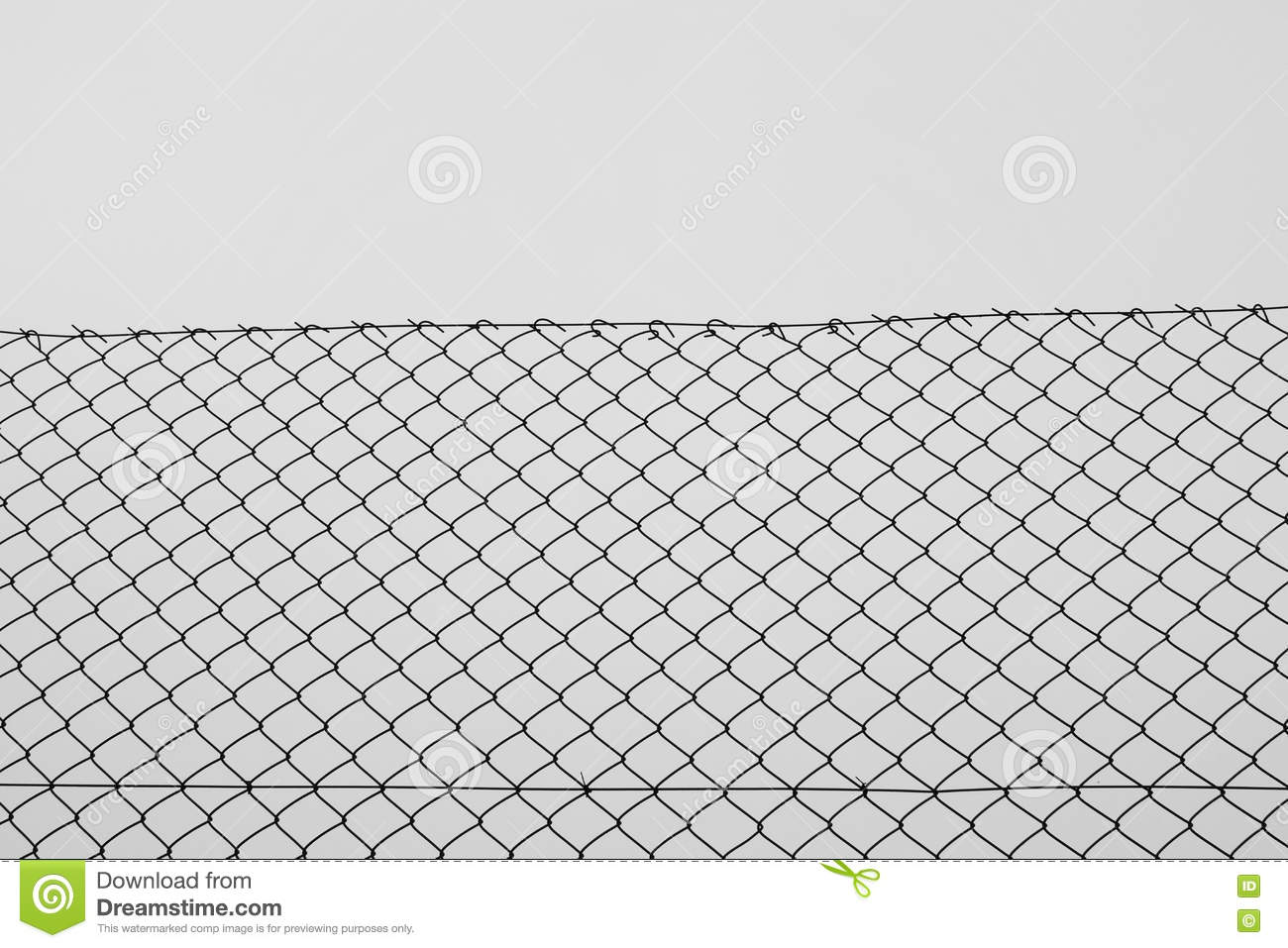 Chain Link Fence Wire Netting Stock Photo Image 72069862