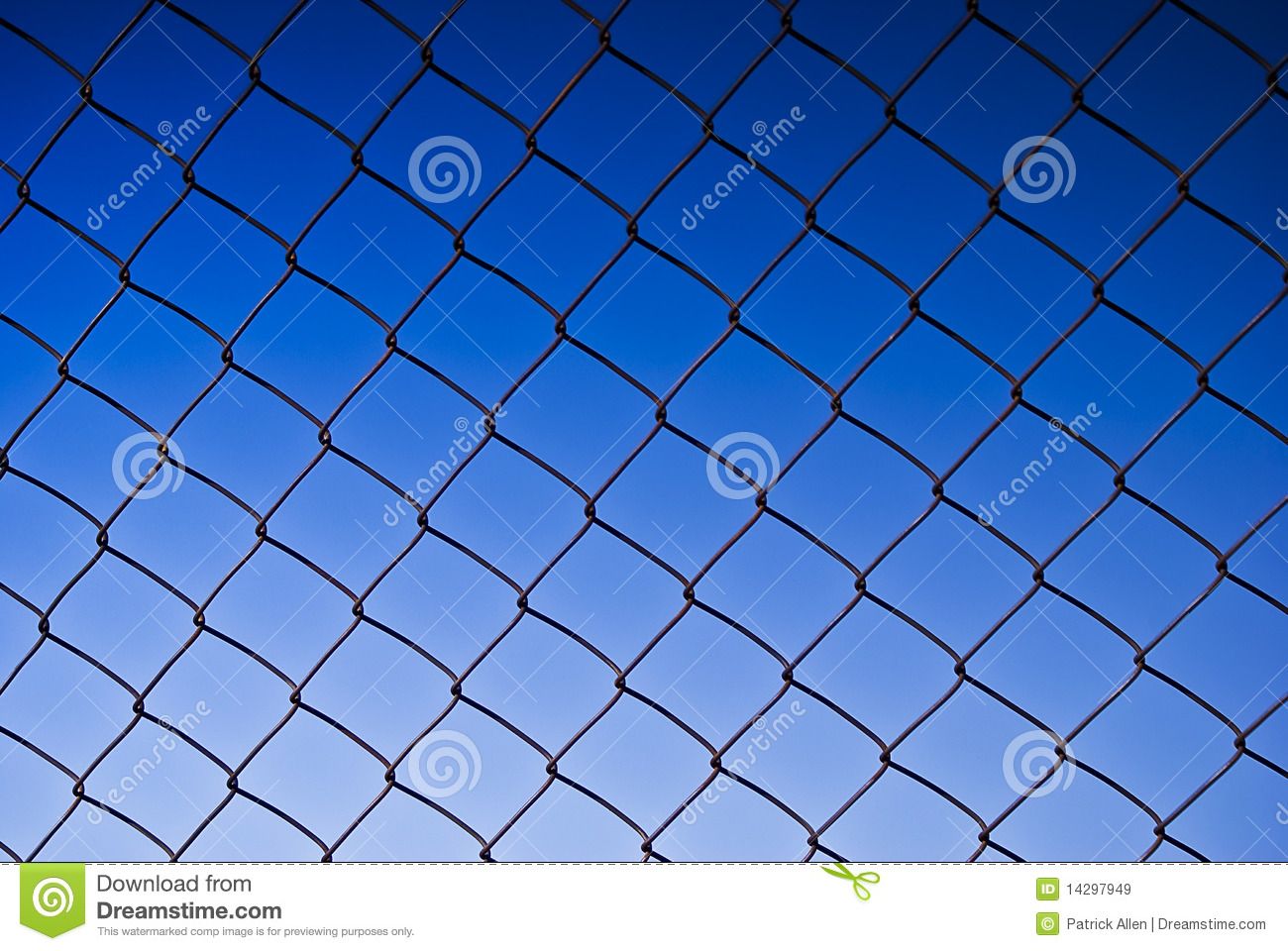Chain link fence see old wooden background royalty free