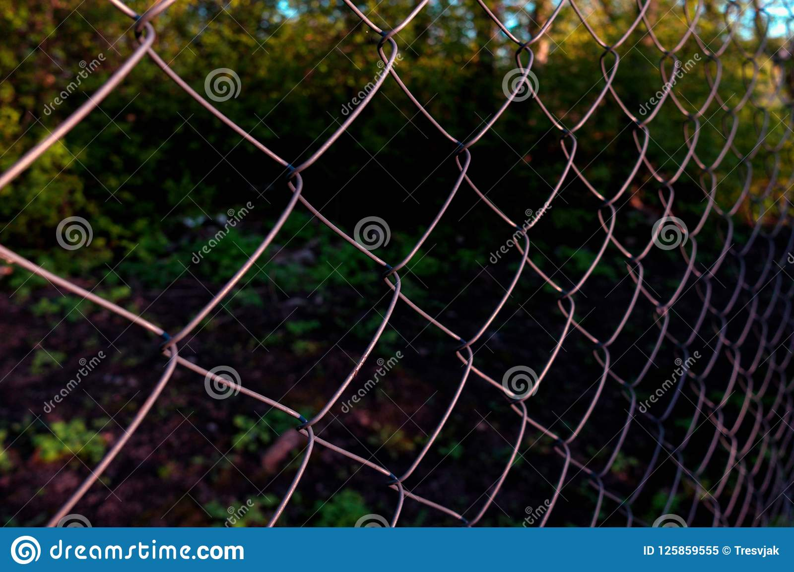 chain link fencing or cyclone fence hurricane fence diamond mesh