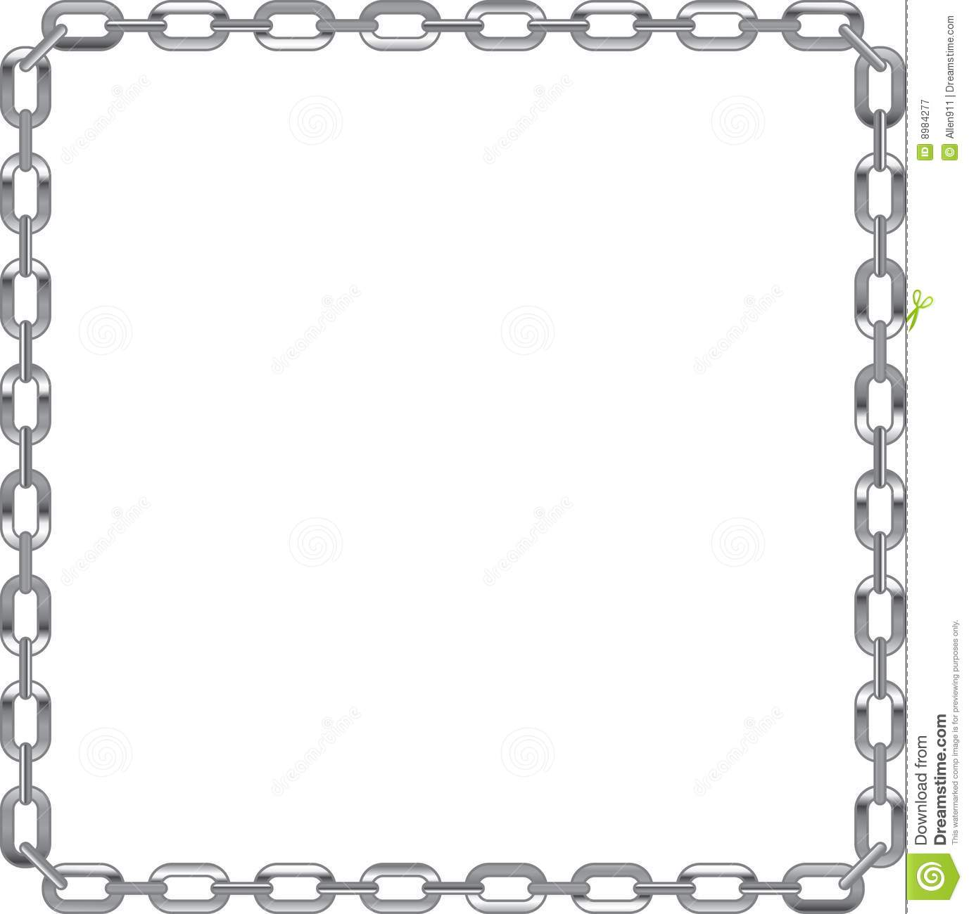 Chain Link Frame On White Background Royalty Free Stock