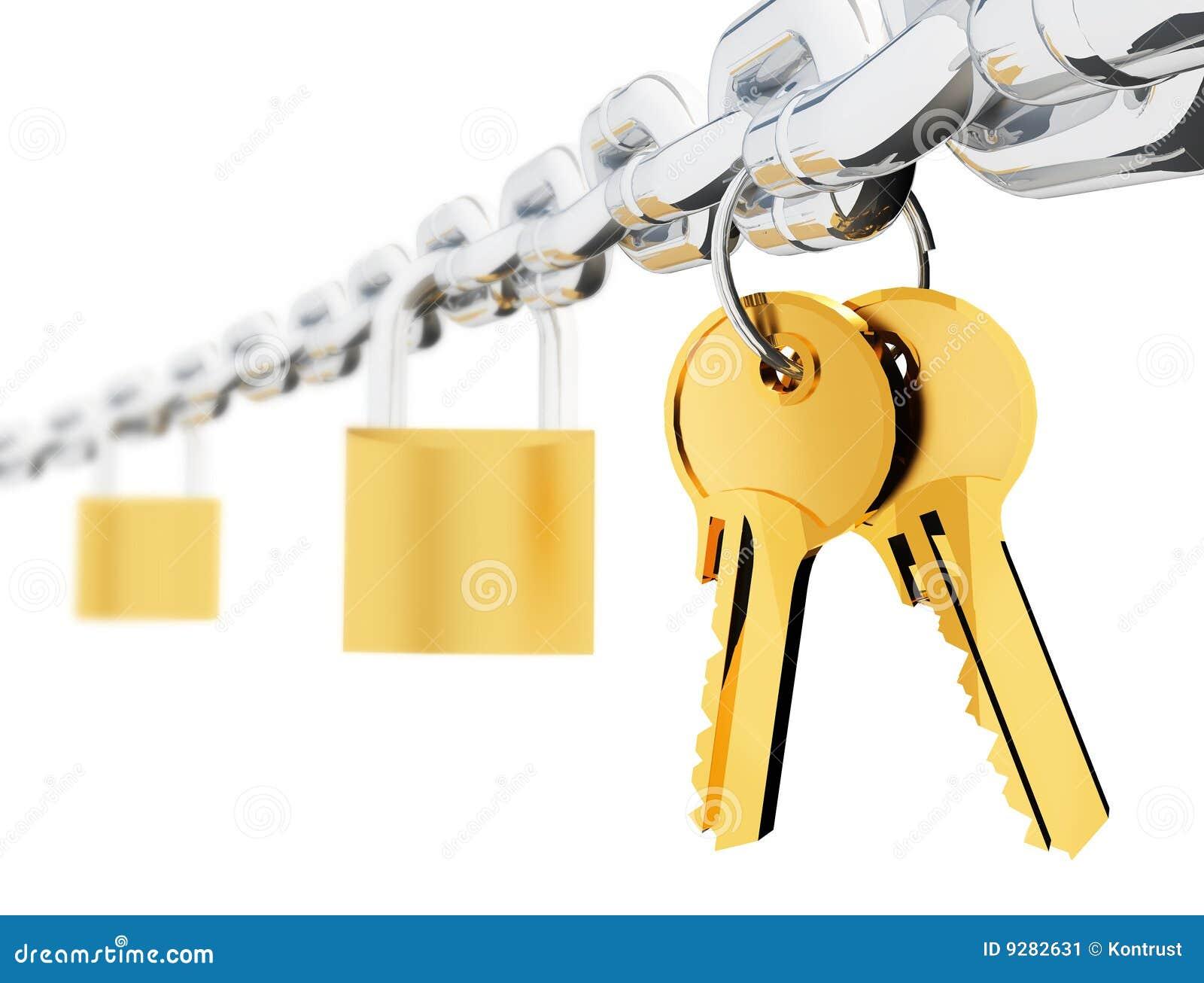 Chain locks and keys