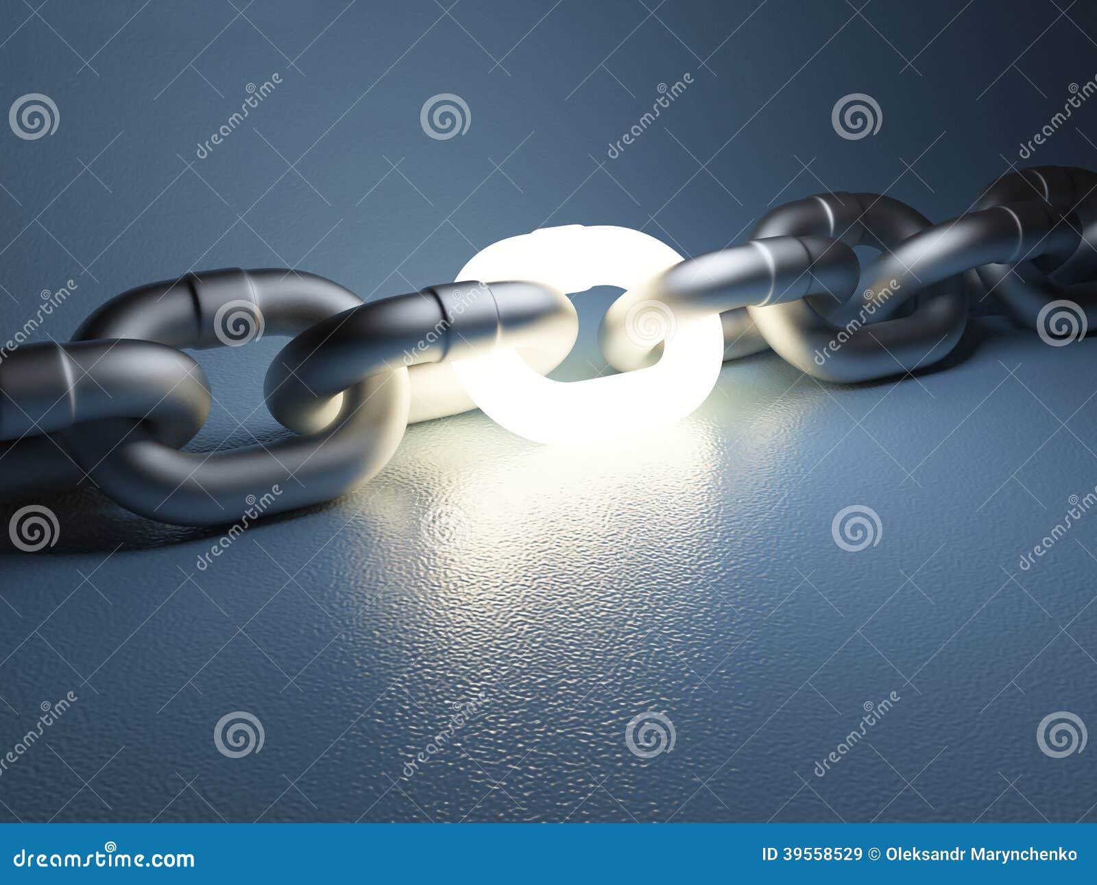 Chain sammanlänkning på vit bakgrund