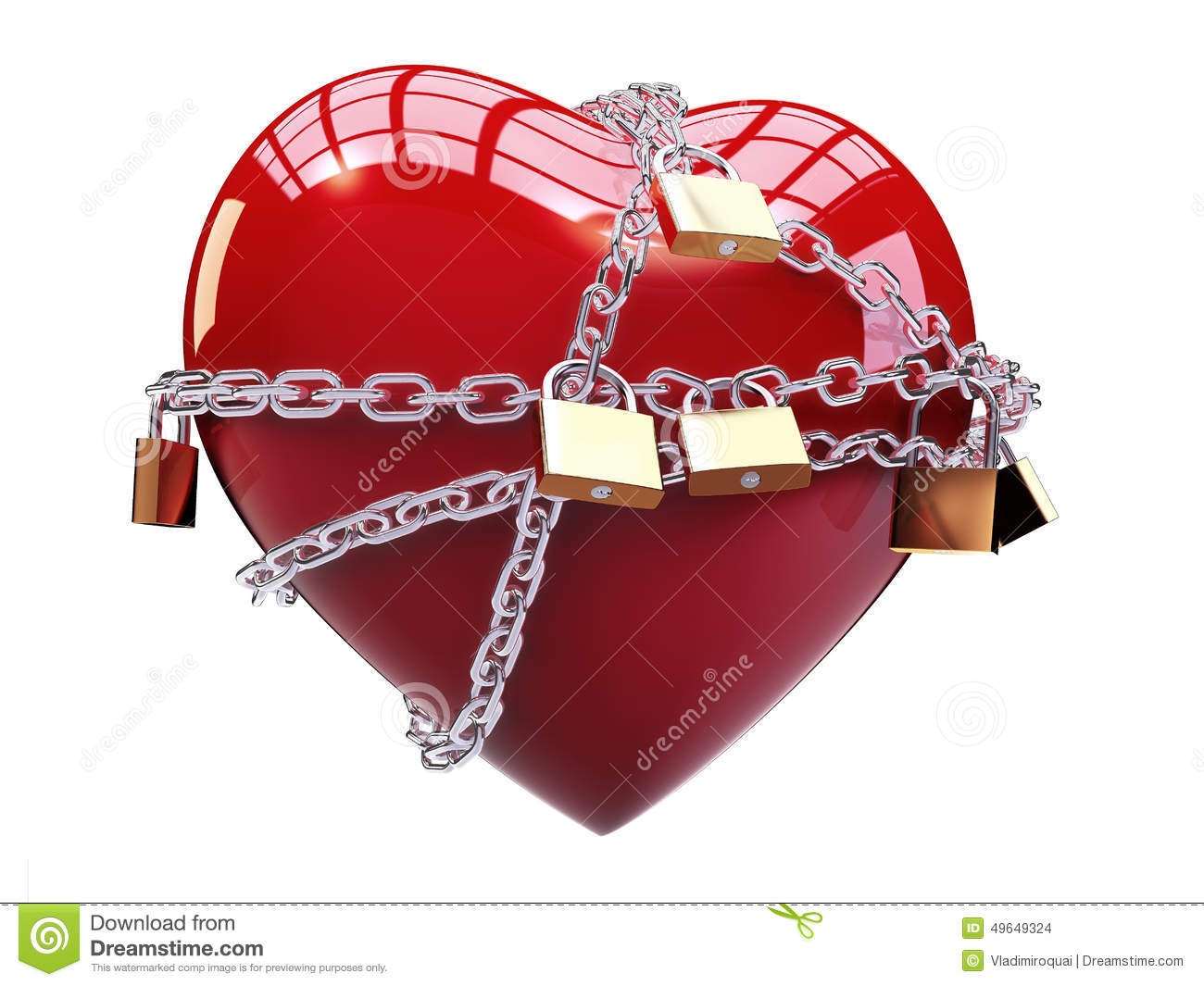 Chained heart stock illustration. Illustration of ...