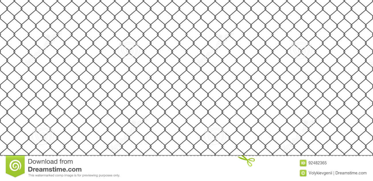 Chainlink Fence Stock Vector Illustration Of Object 92482365