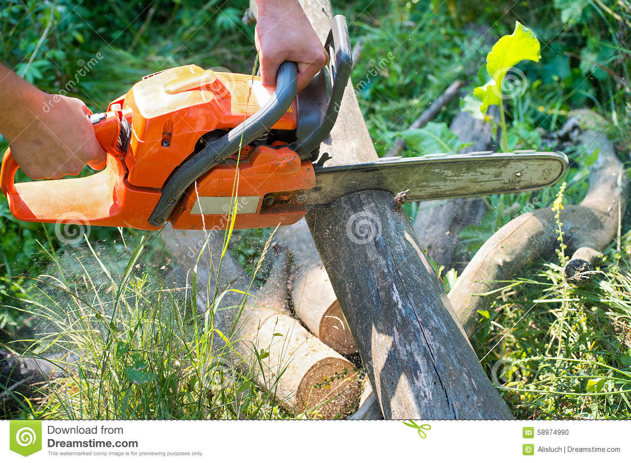 how to cut with a chainsaw
