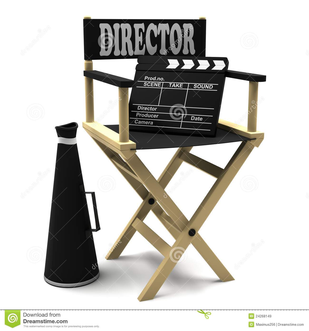 Film With Clapper Board And Director Chair Stock Illustration ...