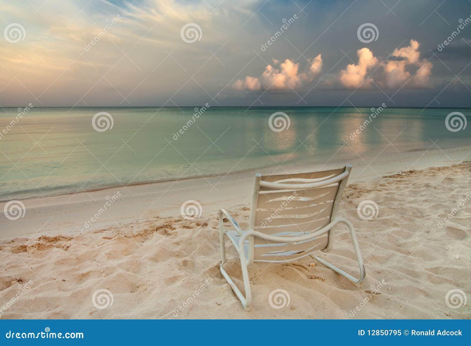 Chair on Eagle Beach in Aruba