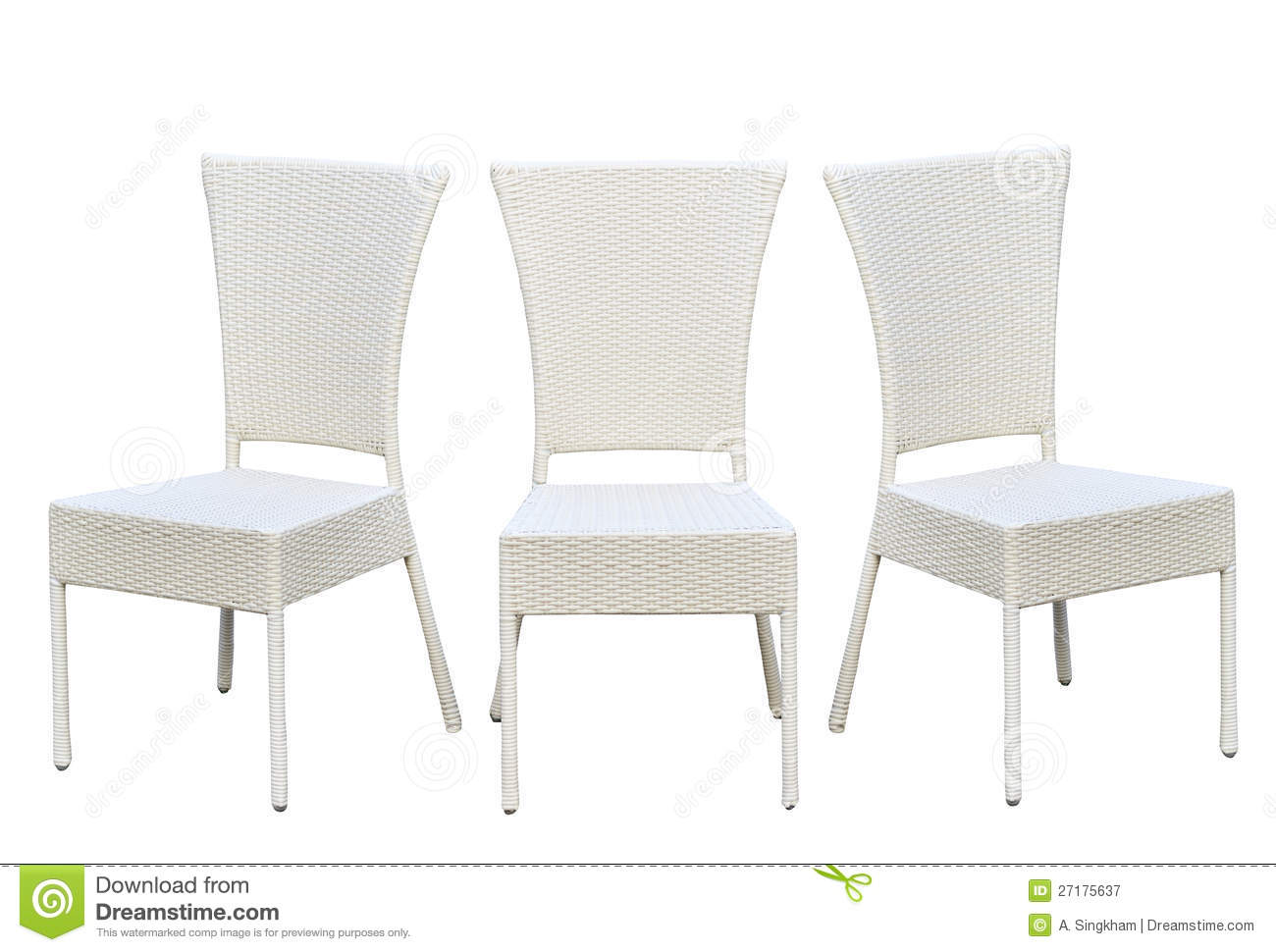 Chair Furniture By Bamboo Wood Royalty Free Stock